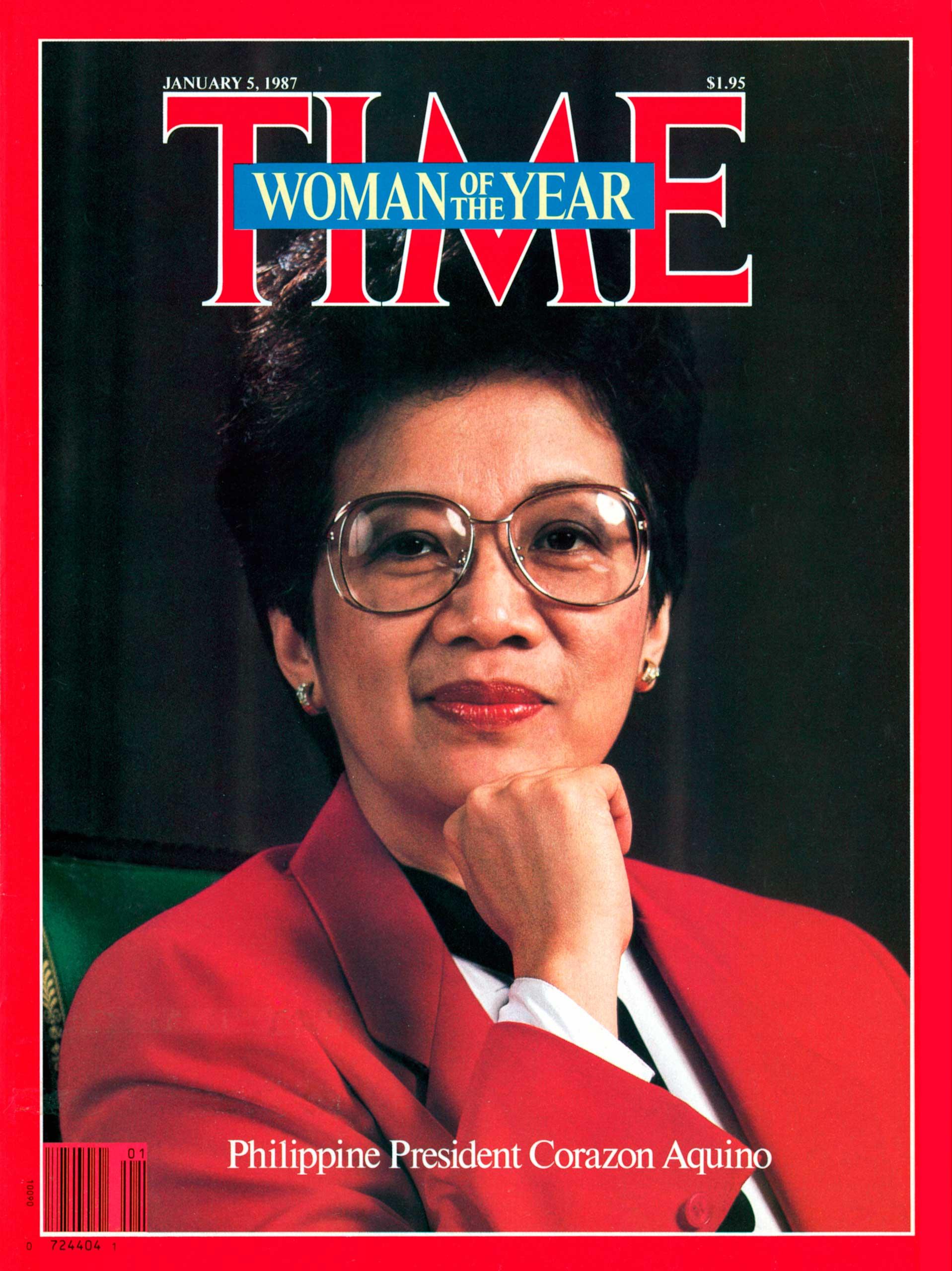 1986: Corazon Aquino