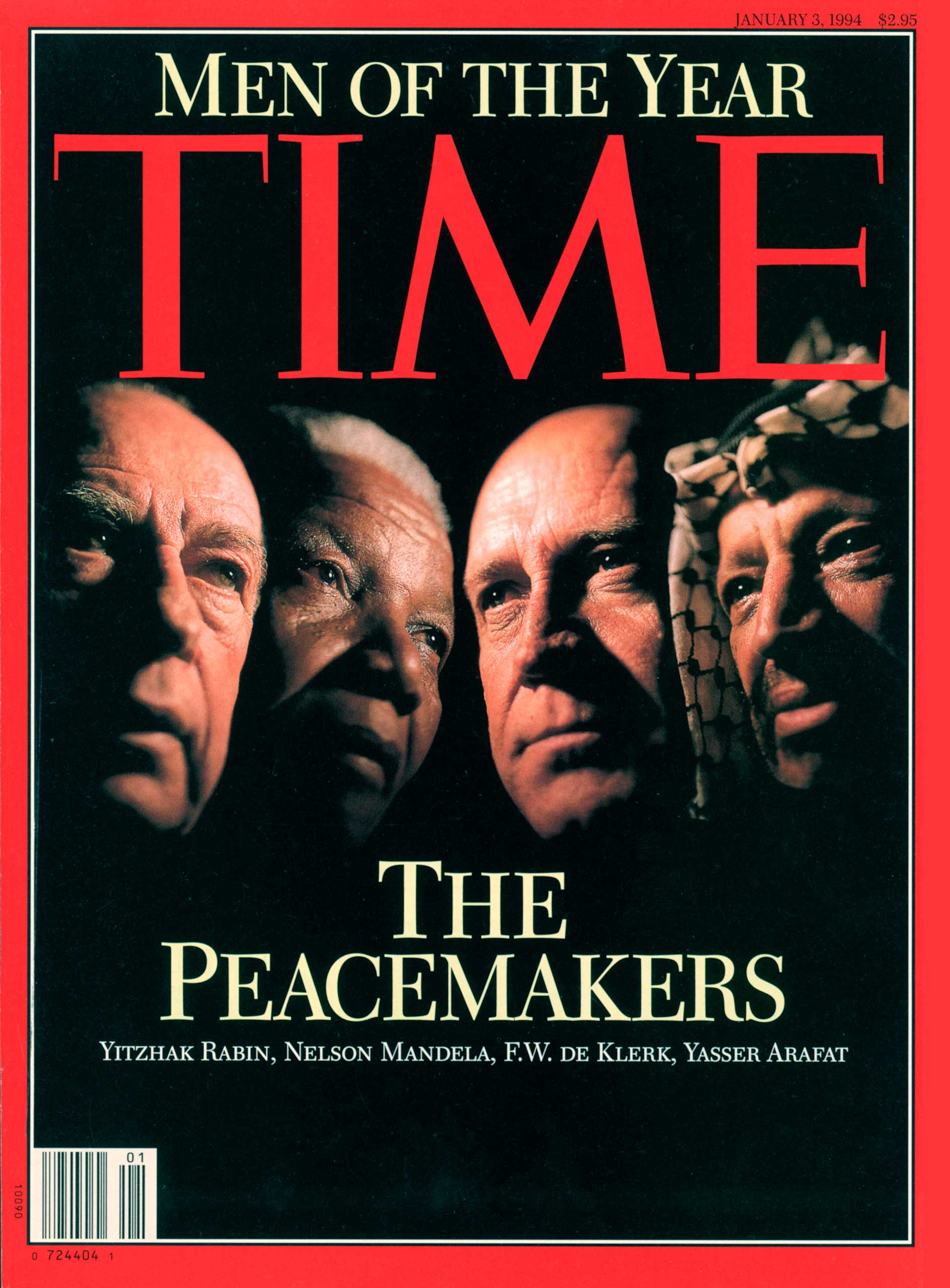 1993: The Peacemakers: Yitzhak Rabin, Nelson Mandela, F.W. De Klerk, Yasser Arafat