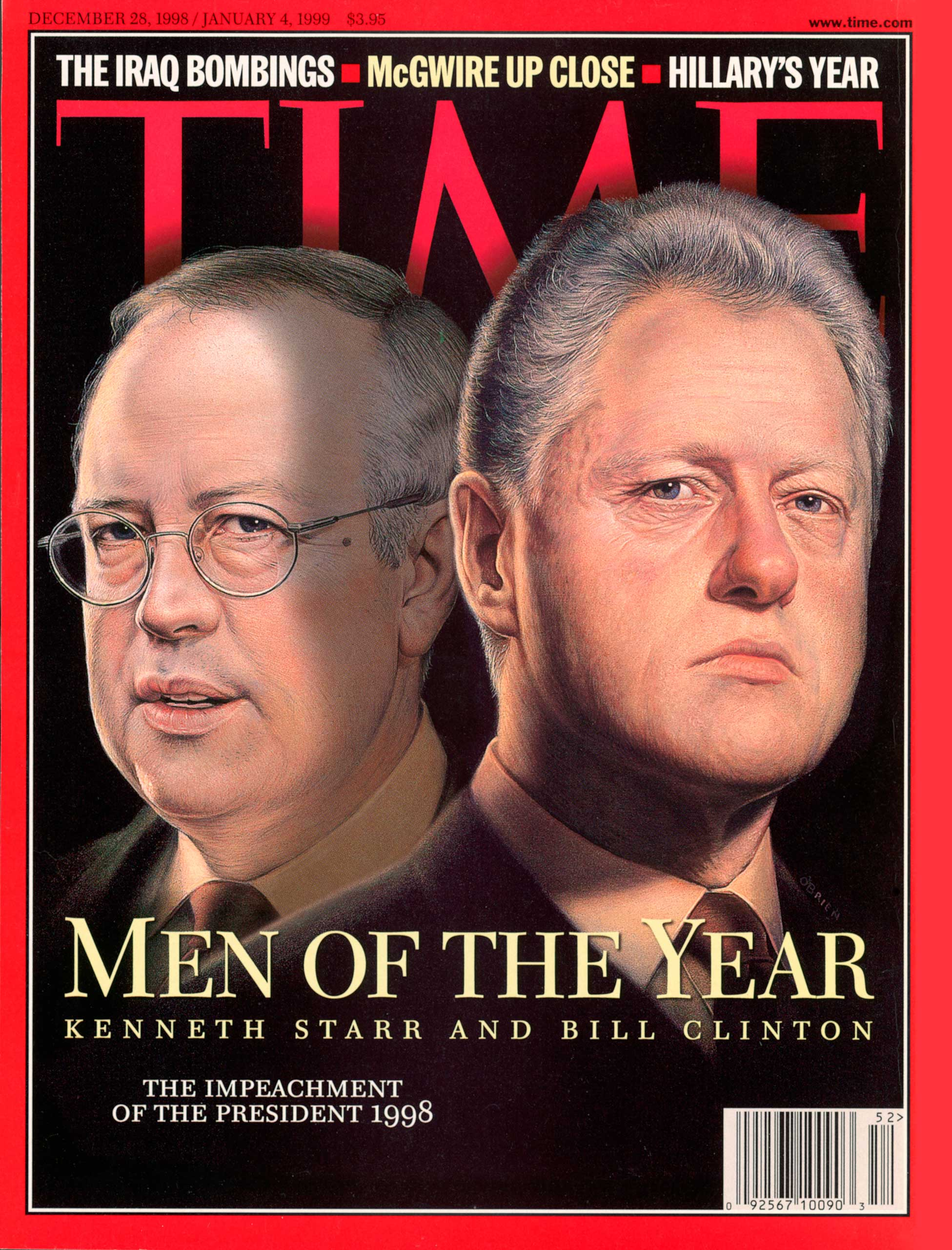 1998: Kenneth Starr and Bill Clinton