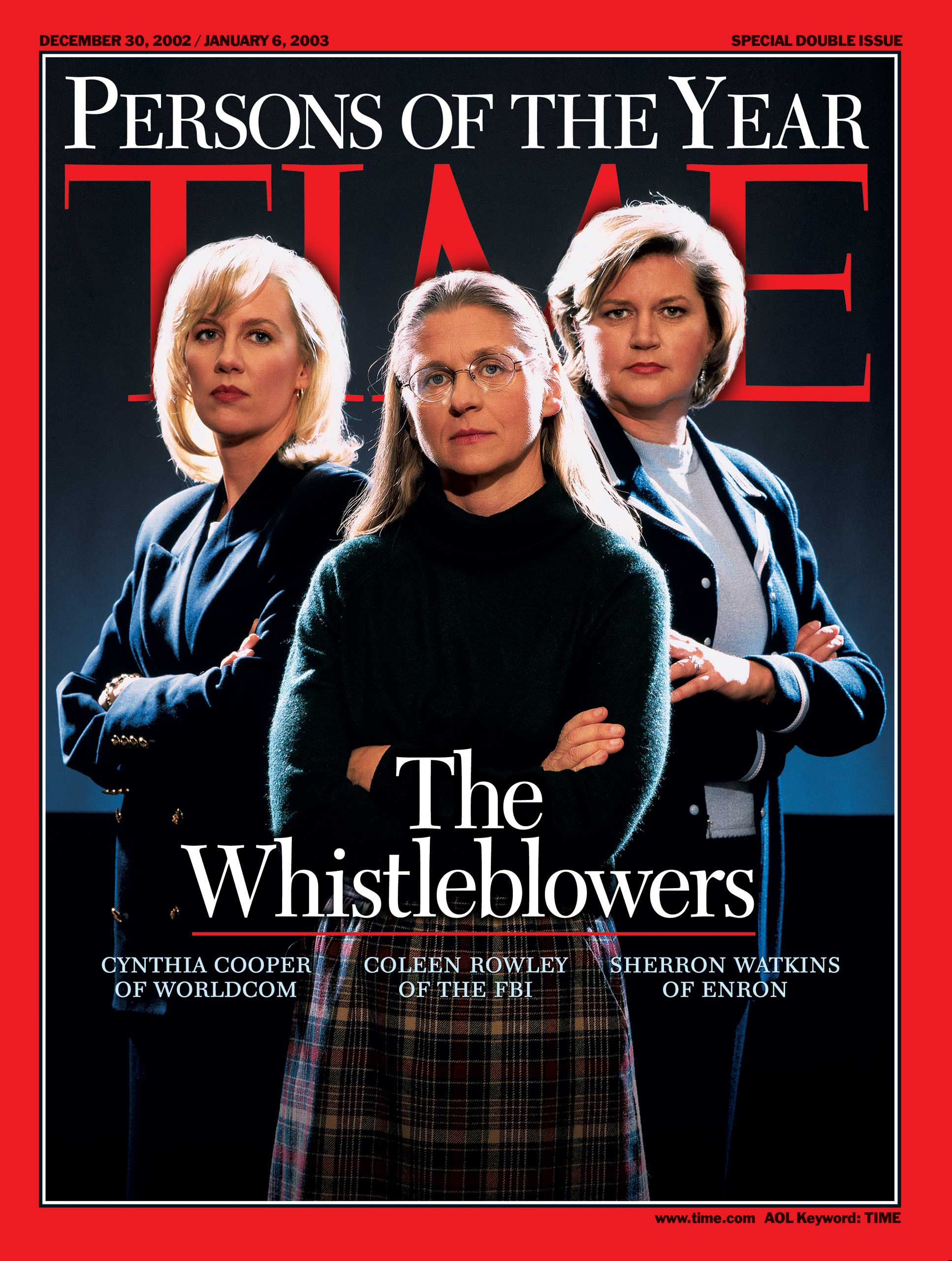 2002: The Whistleblowers: Cynthia Cooper, Coleen Rowley and Sherron Watkins