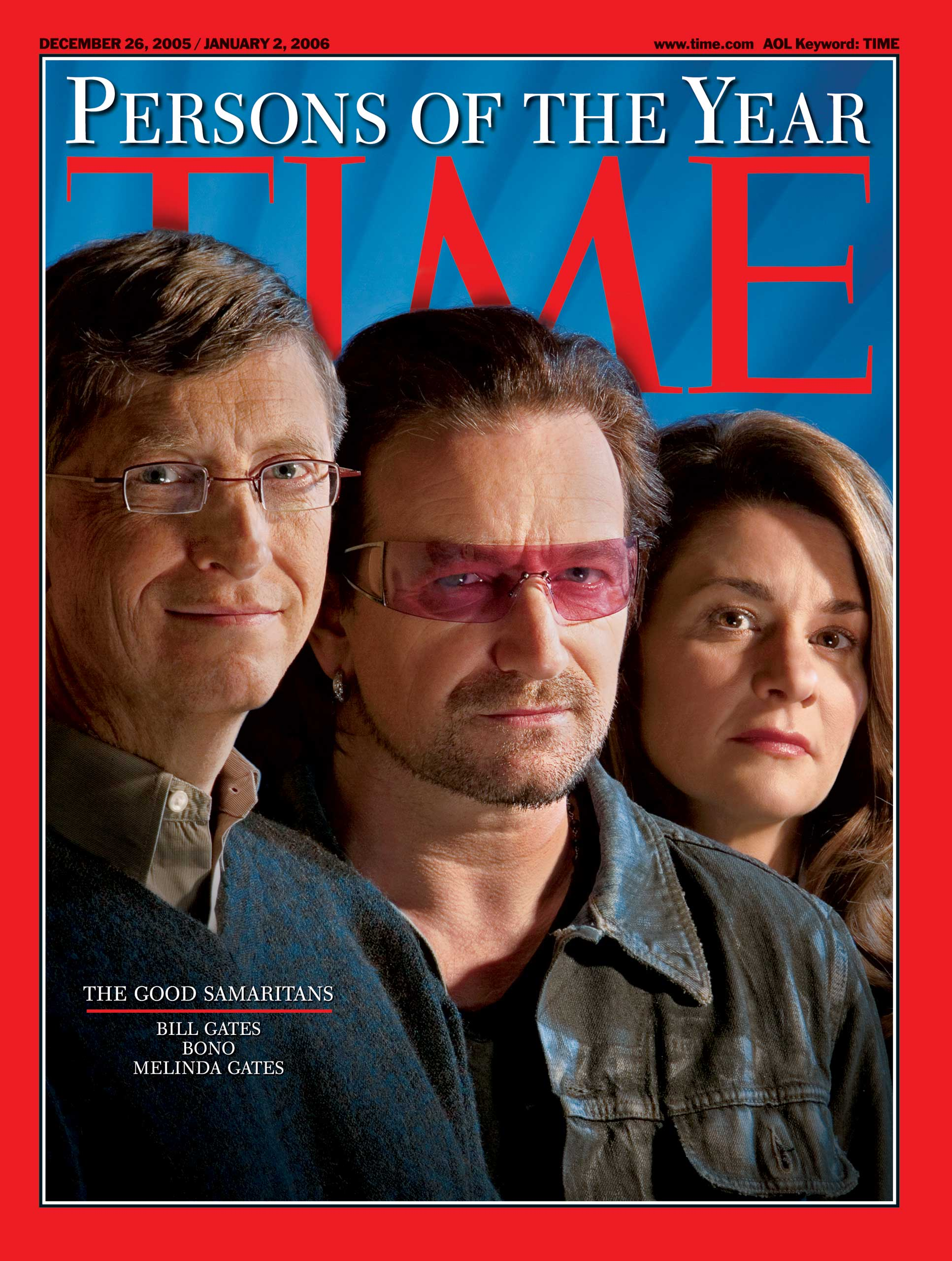 2005: The Good Samaritans: Bill Gates, Bono, Melinda Gates