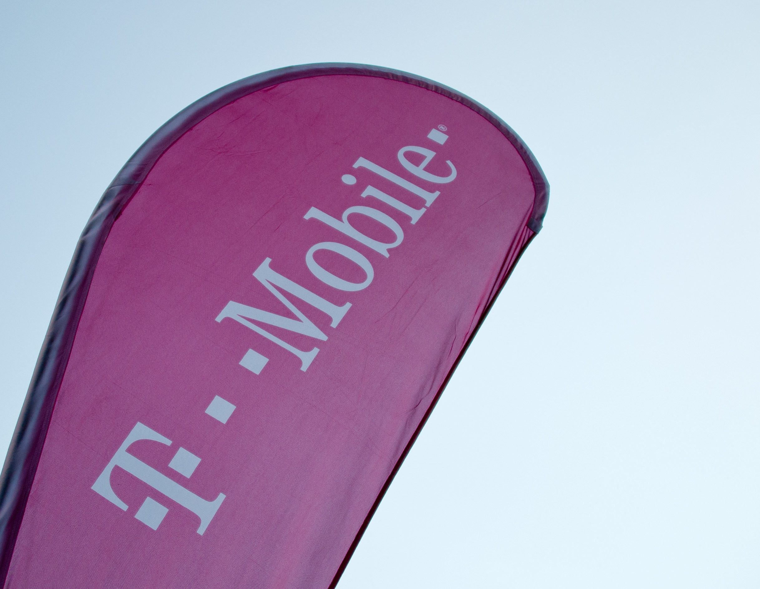 A T-Mobile banner in New York City on Sep. 27, 2014.