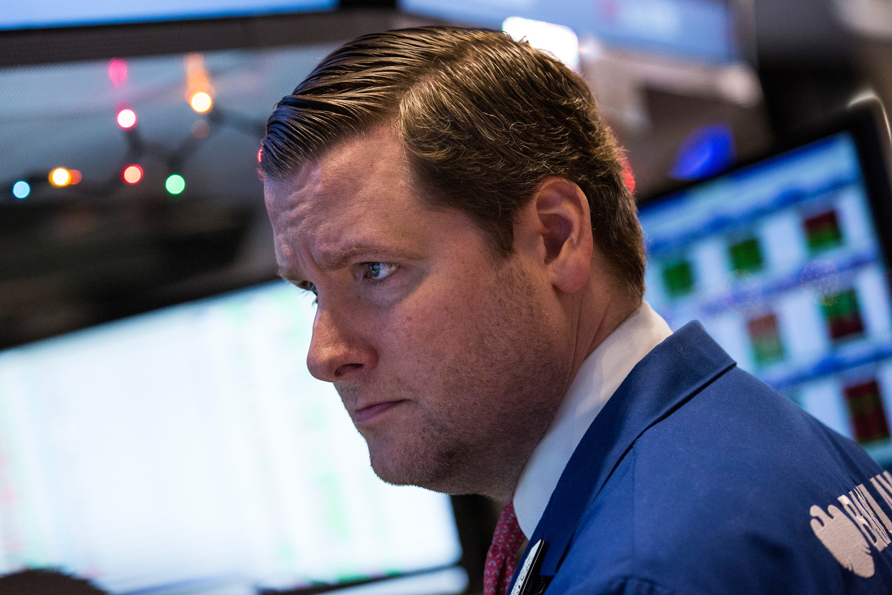 A trader on the floor of the New York Stock Exchange on Dec. 22, 2014.