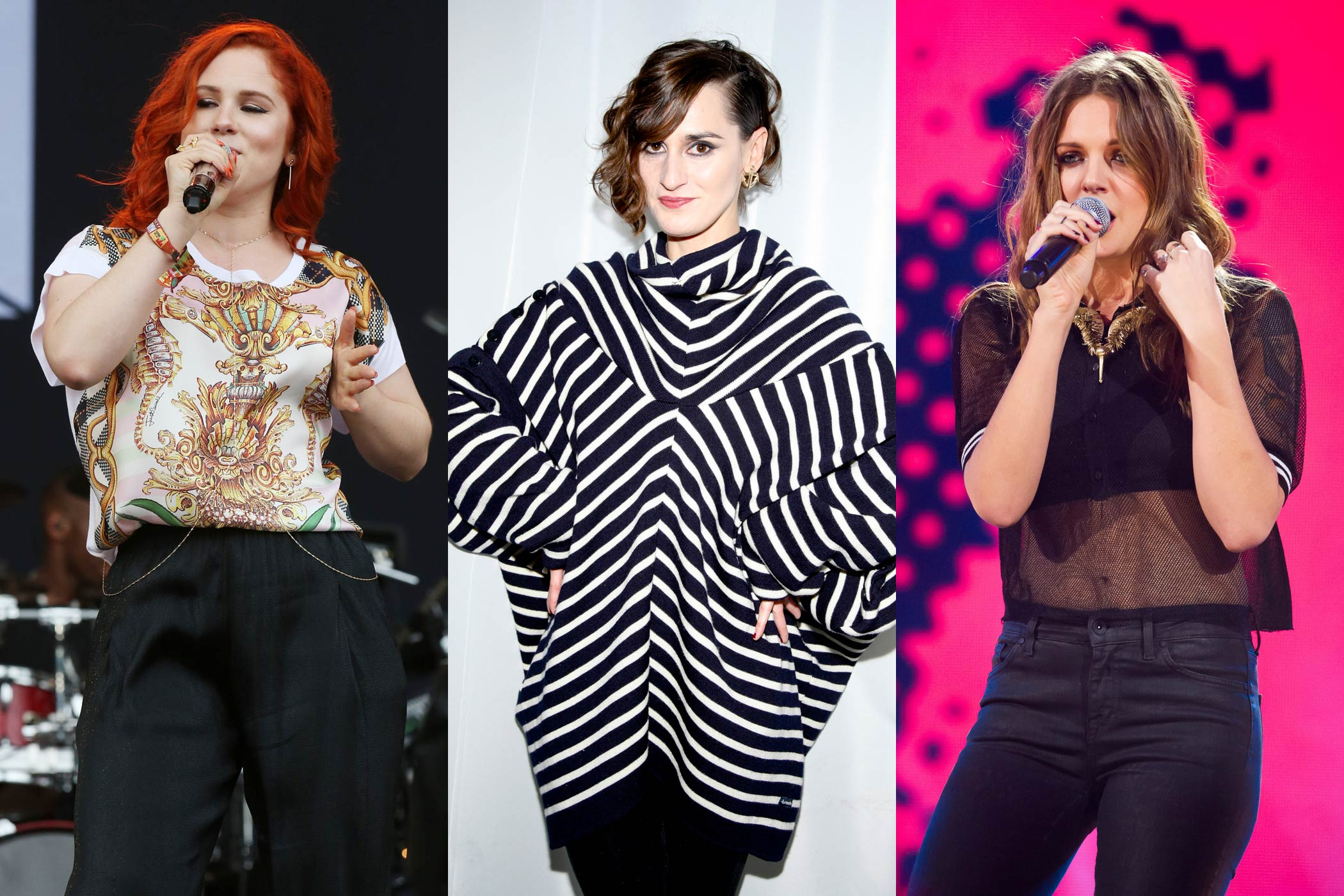 From left: Katy B; Julie Budet of Yelle; Tove Lo