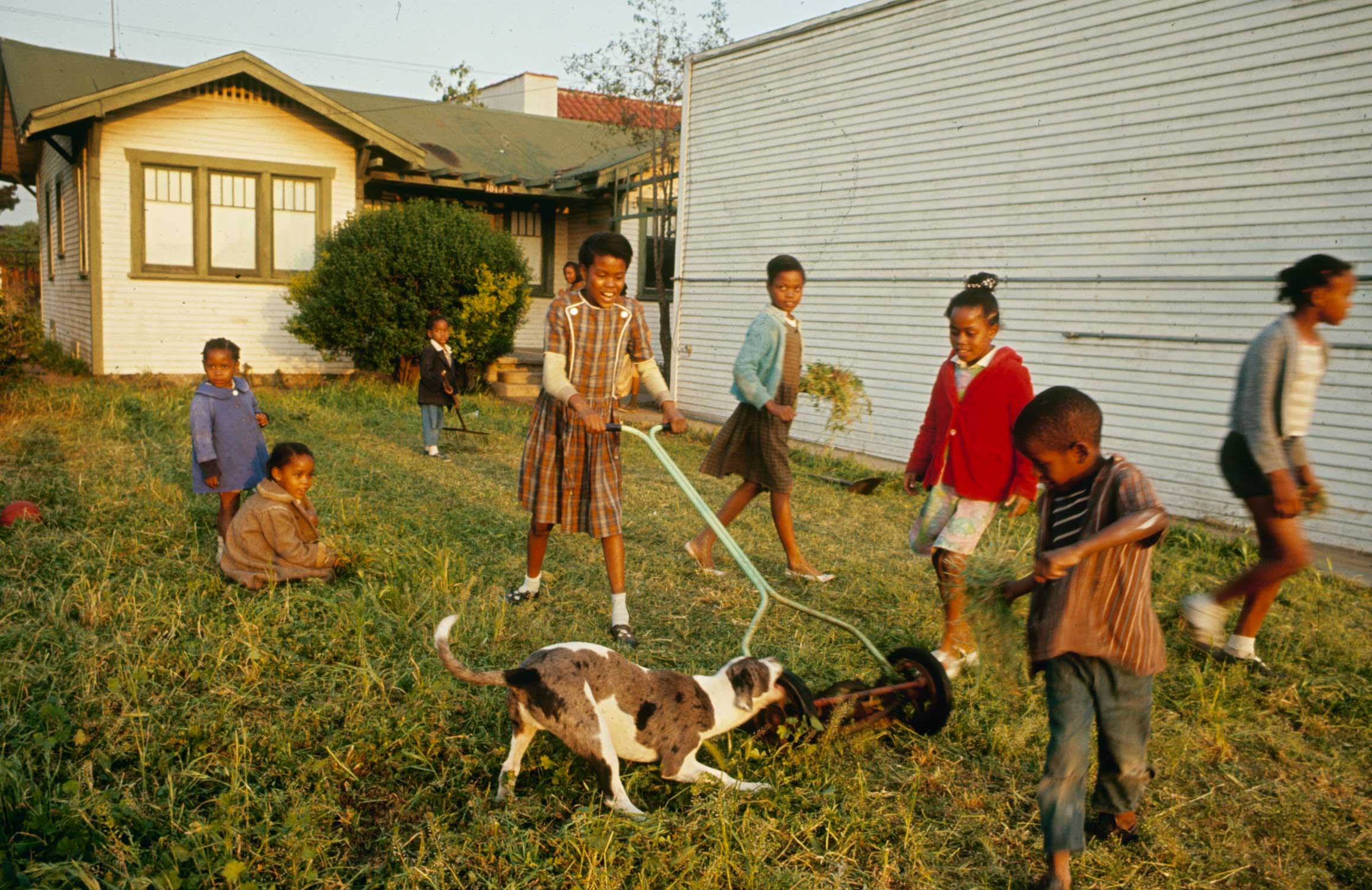 <b>Not published in LIFE.</b> Children at play, Watts, Los Angeles, 1966.