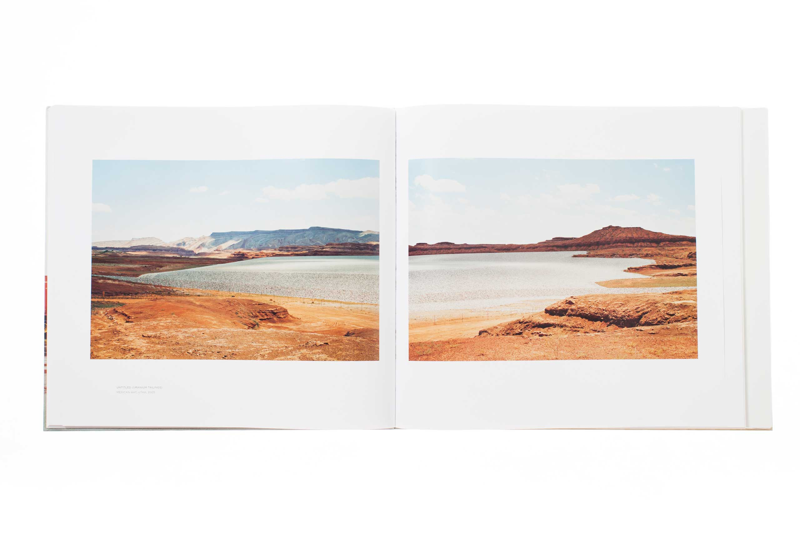 Taxonomy of a Landscape  Sambunaris' large format landscape photographs are presented through a clean, modern design aesthetic in the main book.