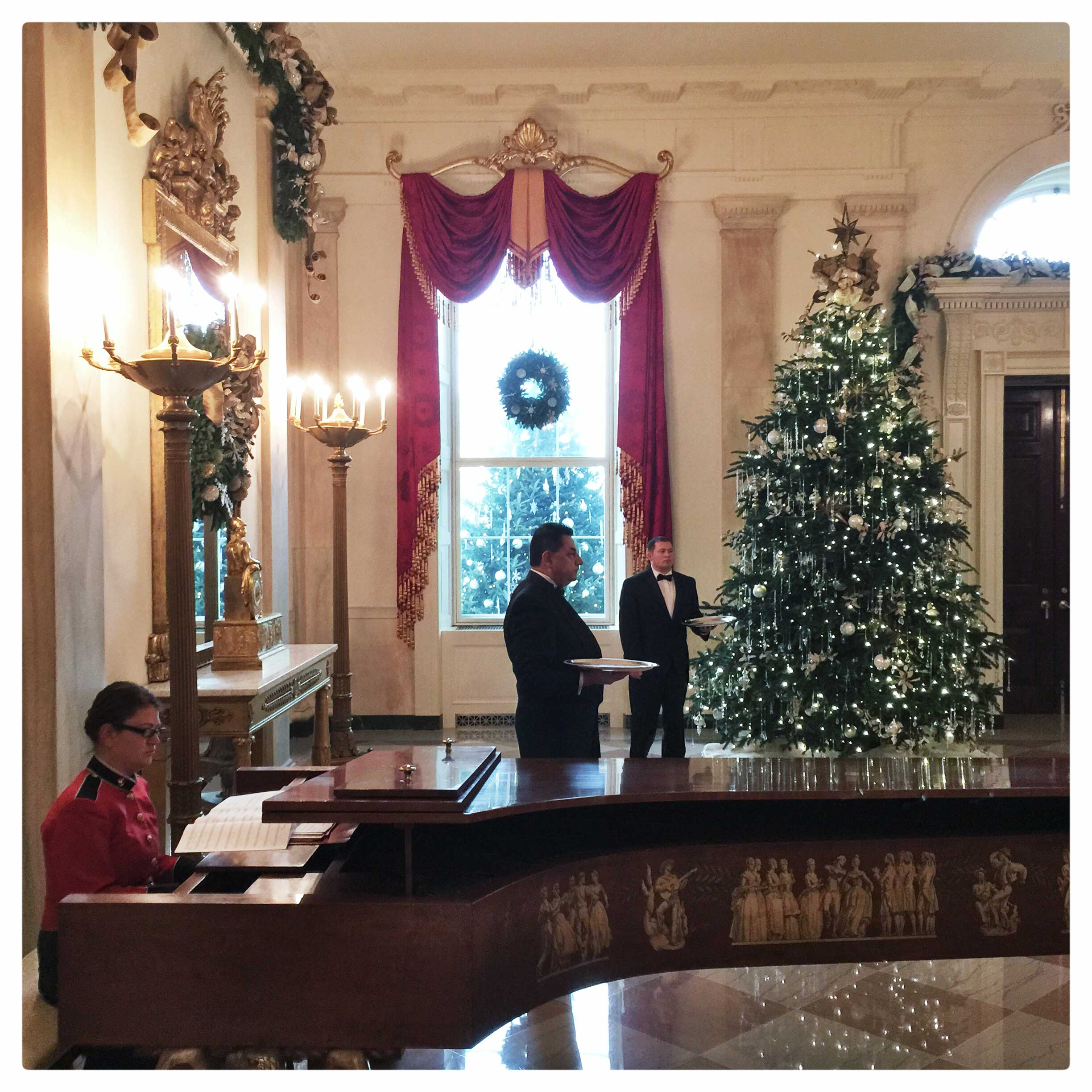 Holiday decorations at the White House.