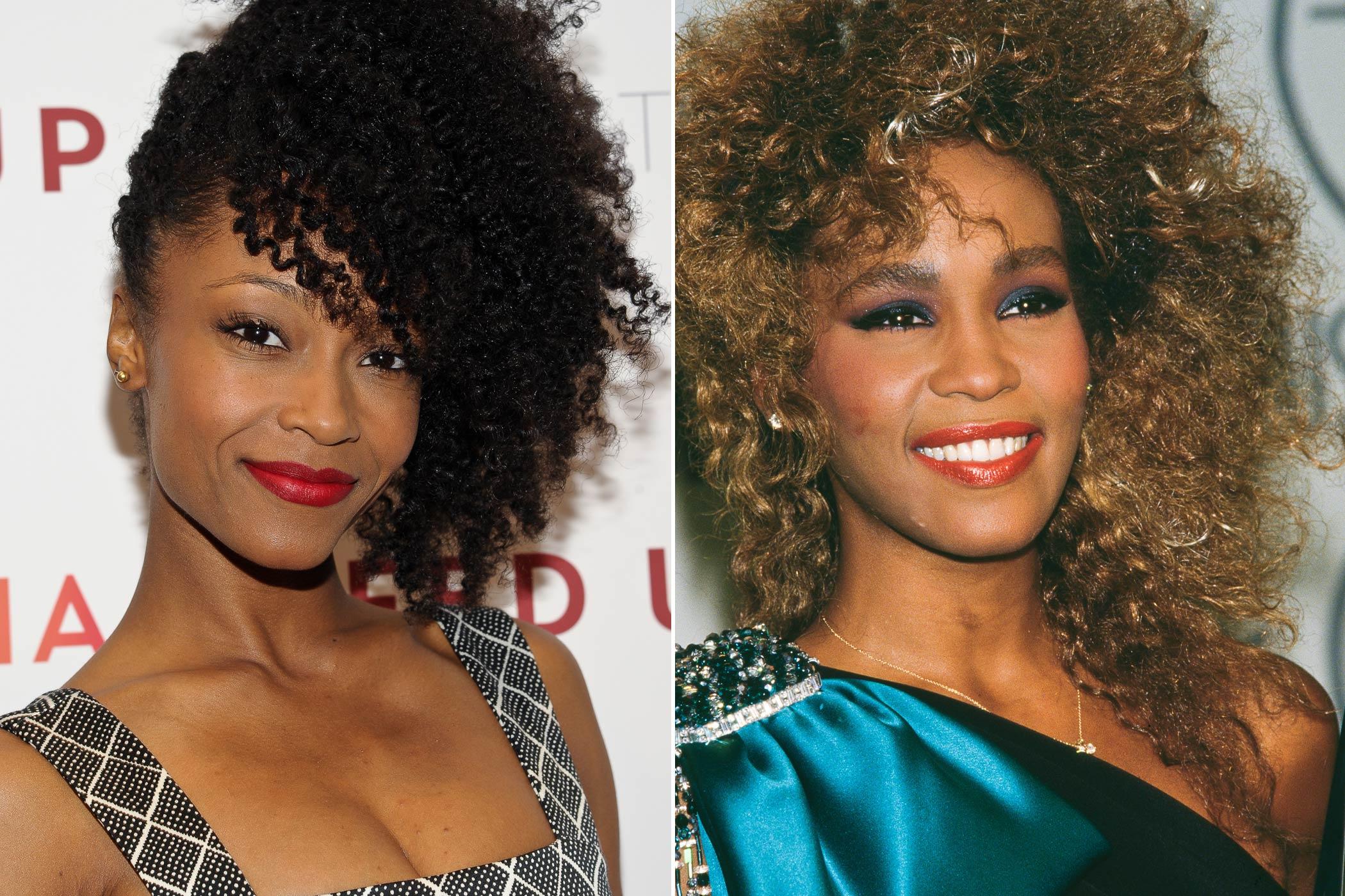 From left: Yaya Dacosta; Whitney Houston