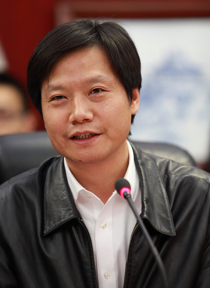 Lei Jun chairman and CEO of China's Xiaomi Inc., gives a lecture at Wuhan University in Wuhan, China on Nov. 29, 2014.