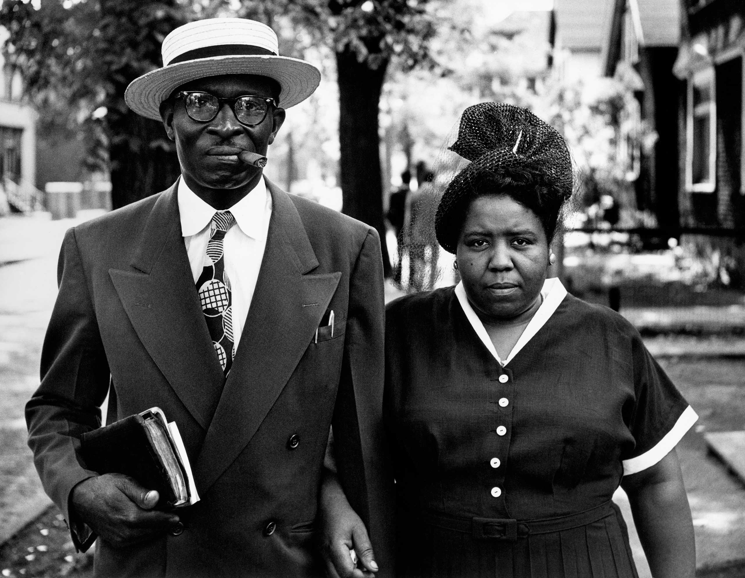 The New York Times: 'A Long Hungry Look': Forgotten Gordon Parks Photos Document Segregation                               Husband and Wife, Sunday Morning, Detroit, Michigan. 1950.