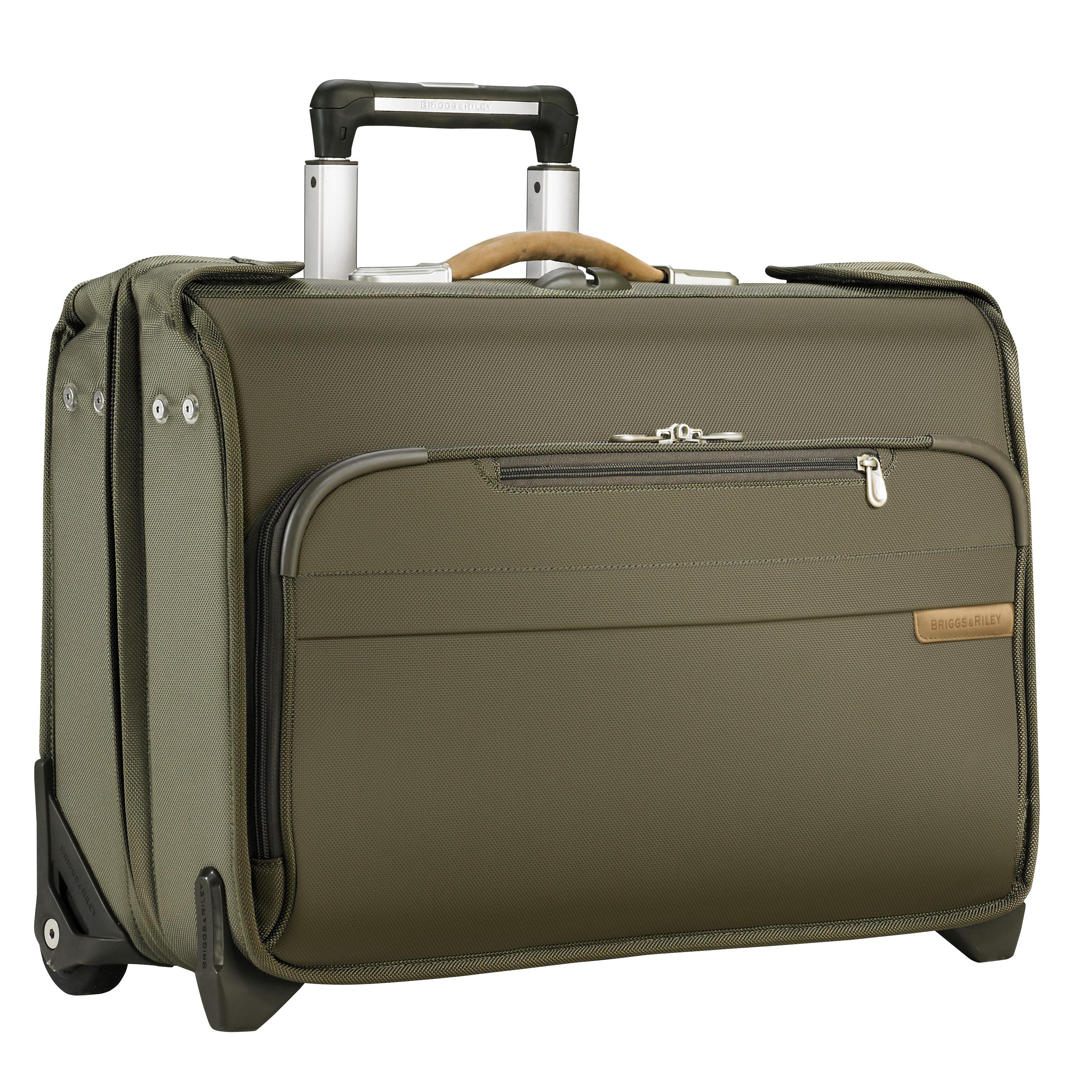 <b>Briggs &amp; Riley</b> Wheeled garment bag. $499; www.briggs-riley.com.
