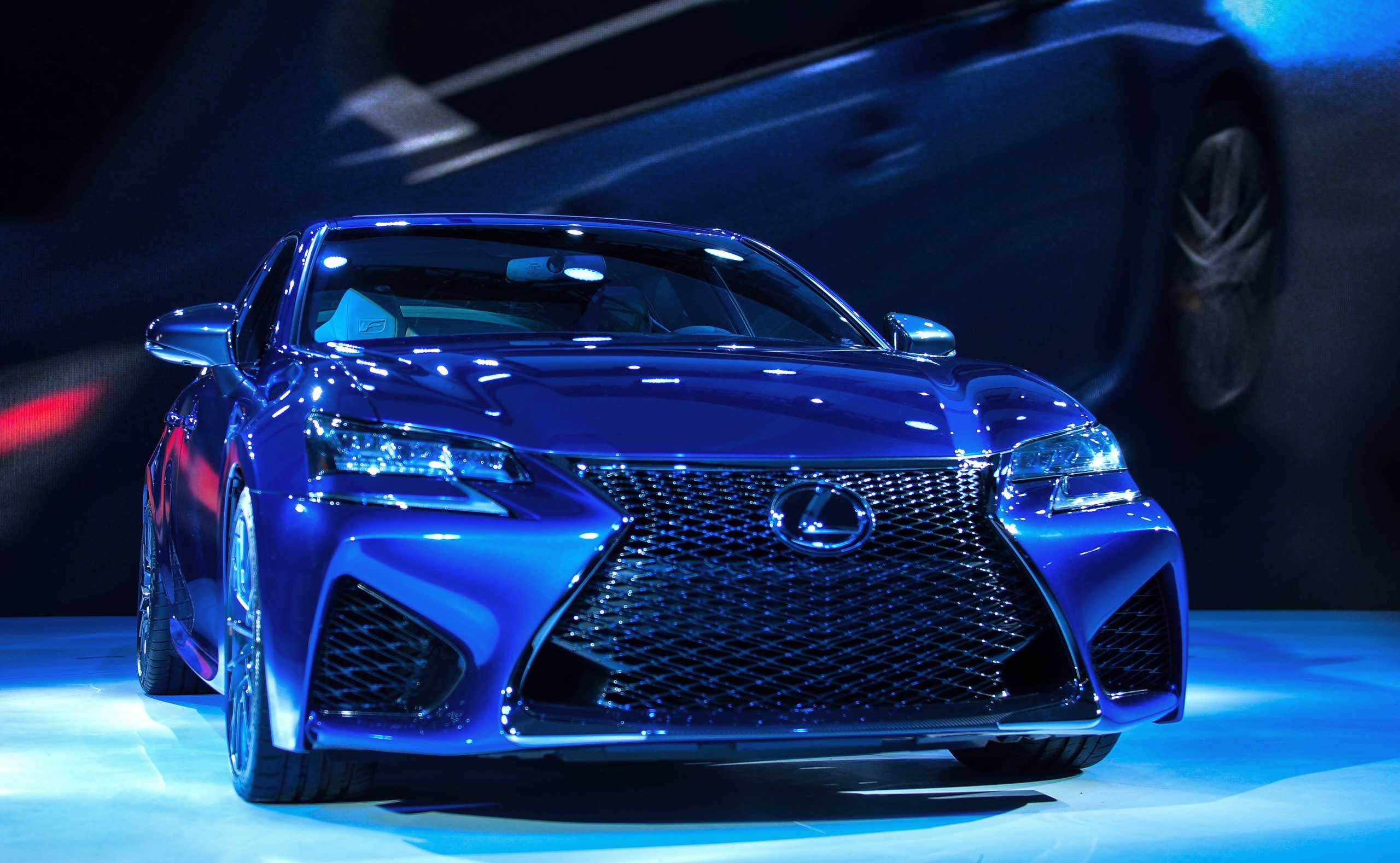 Lexus unveils its 2016 GS F during a press preview on  Jan. 13, 2015 in Detroit.