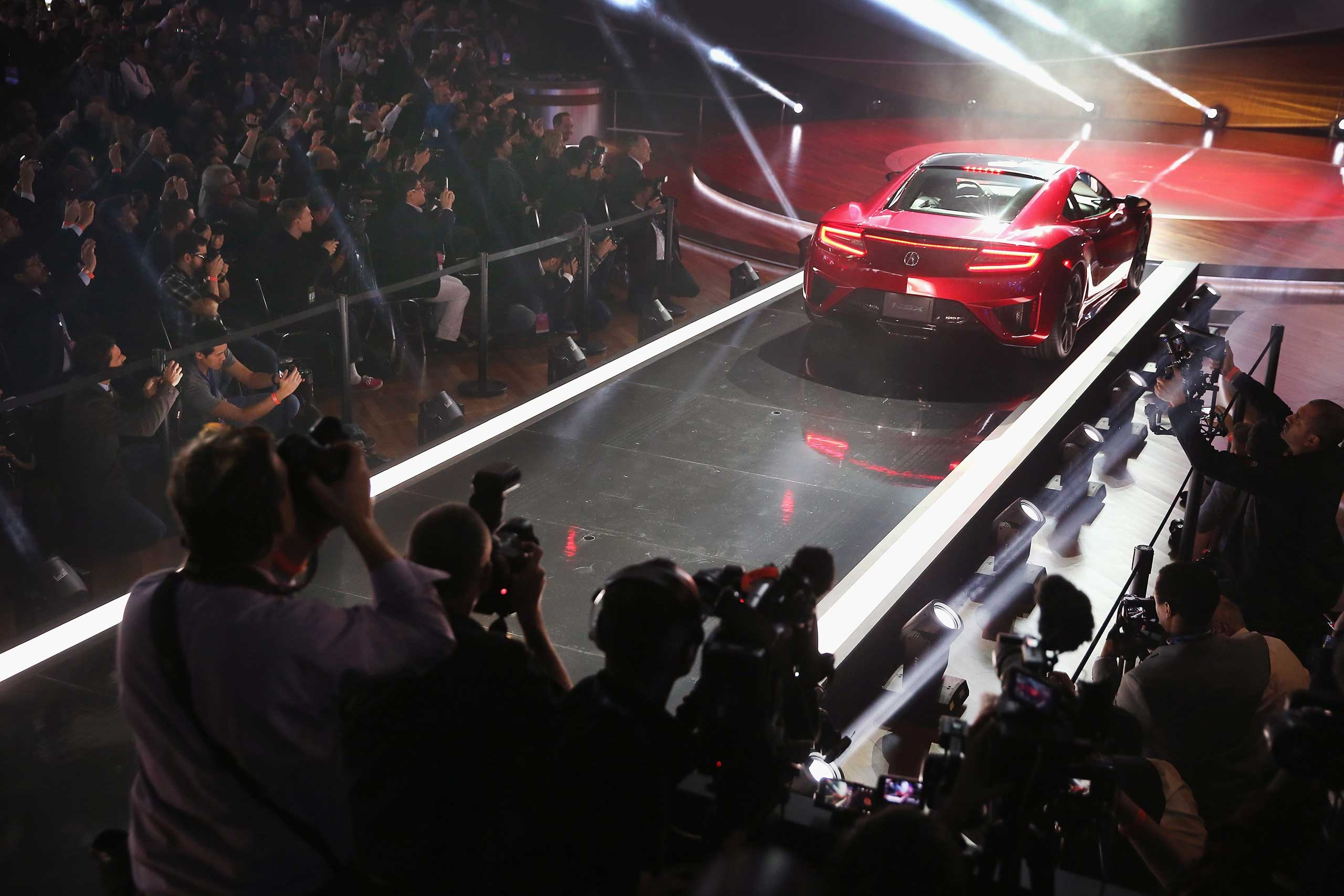Acura introduces the new NSX on Jan. 12, 2015 in Detroit.