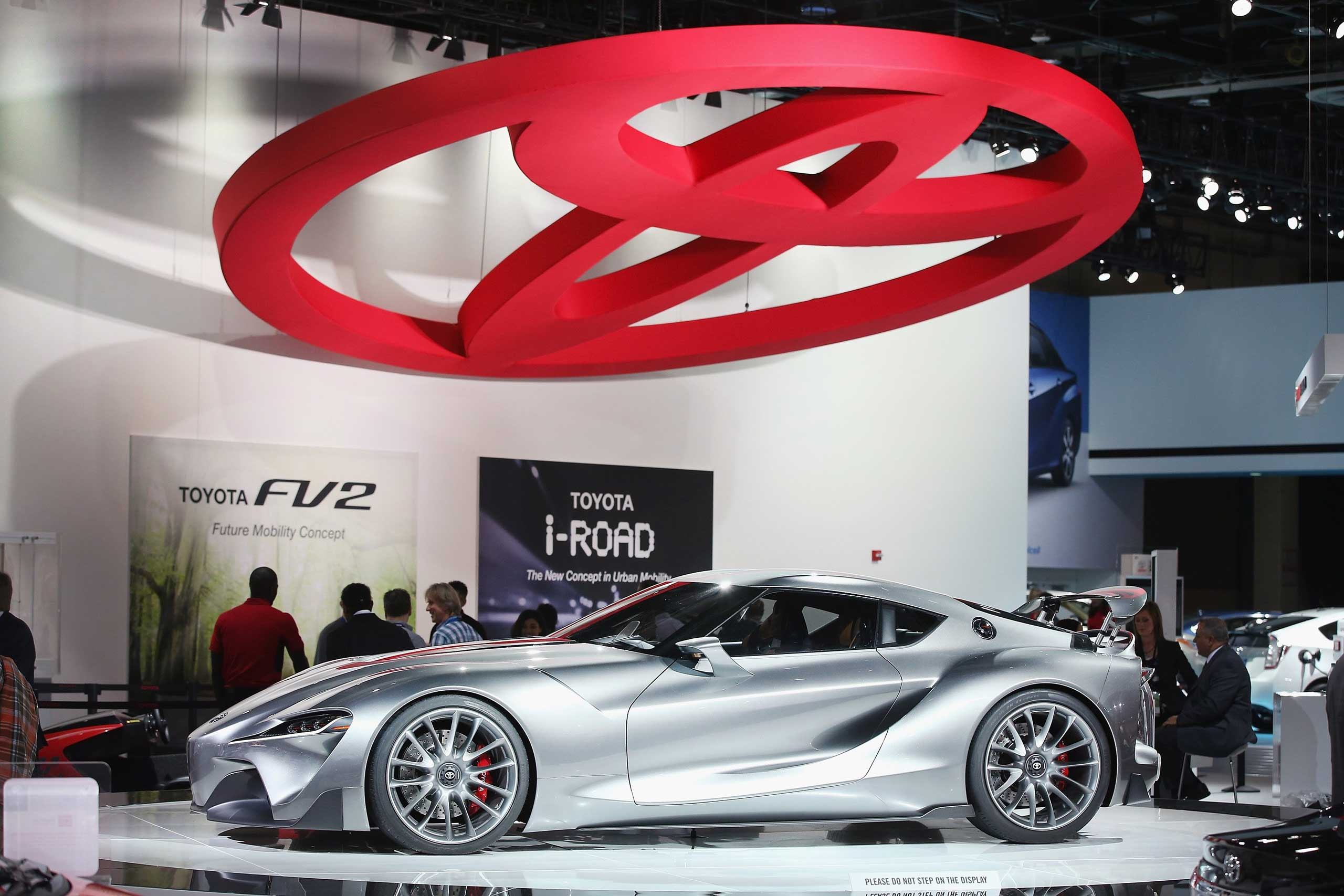 Toyota shows off their  FT-1 concept car during the media preview on Jan. 13, 2015 in Detroit.