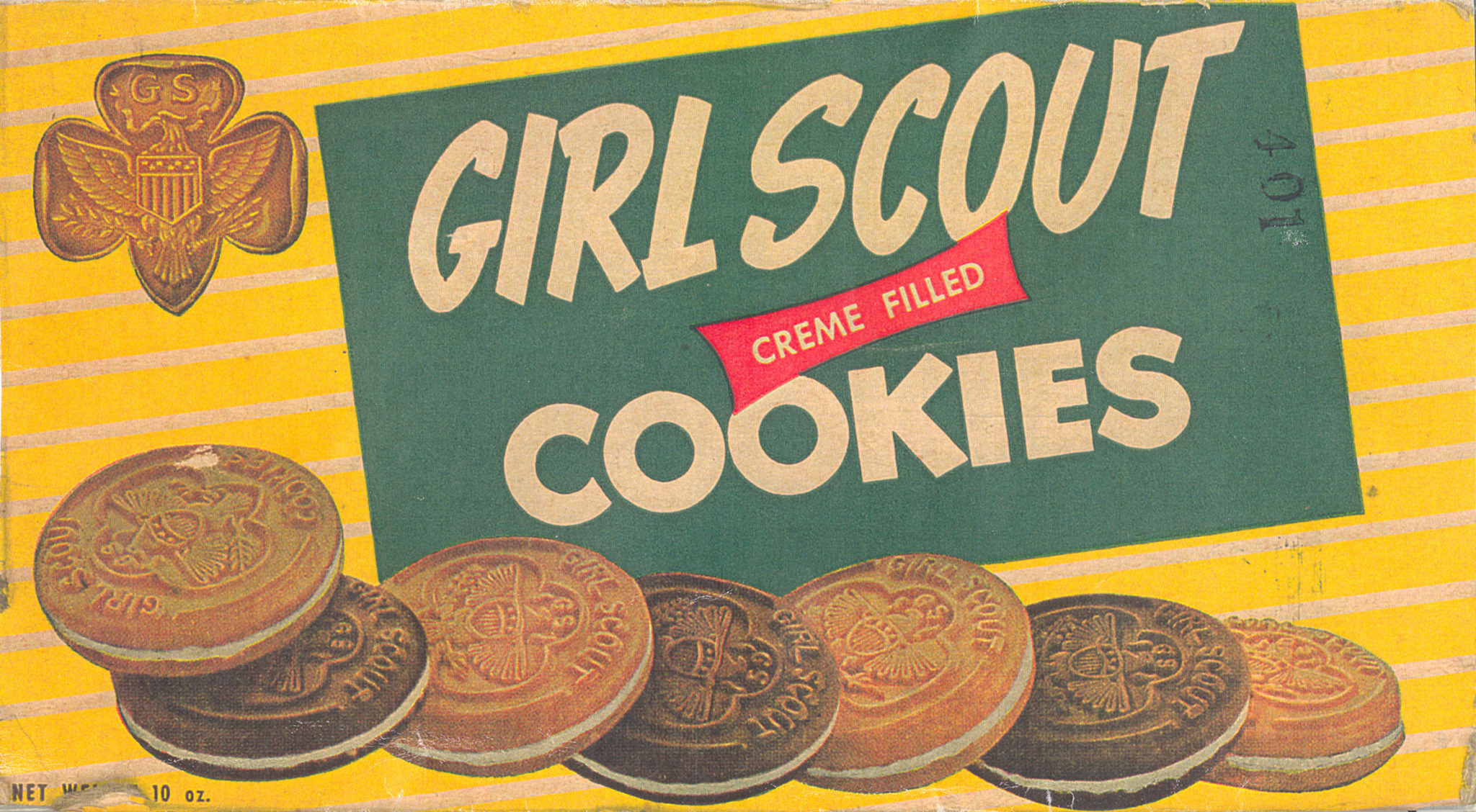 A 1940's Girl Scouts Cookies box
