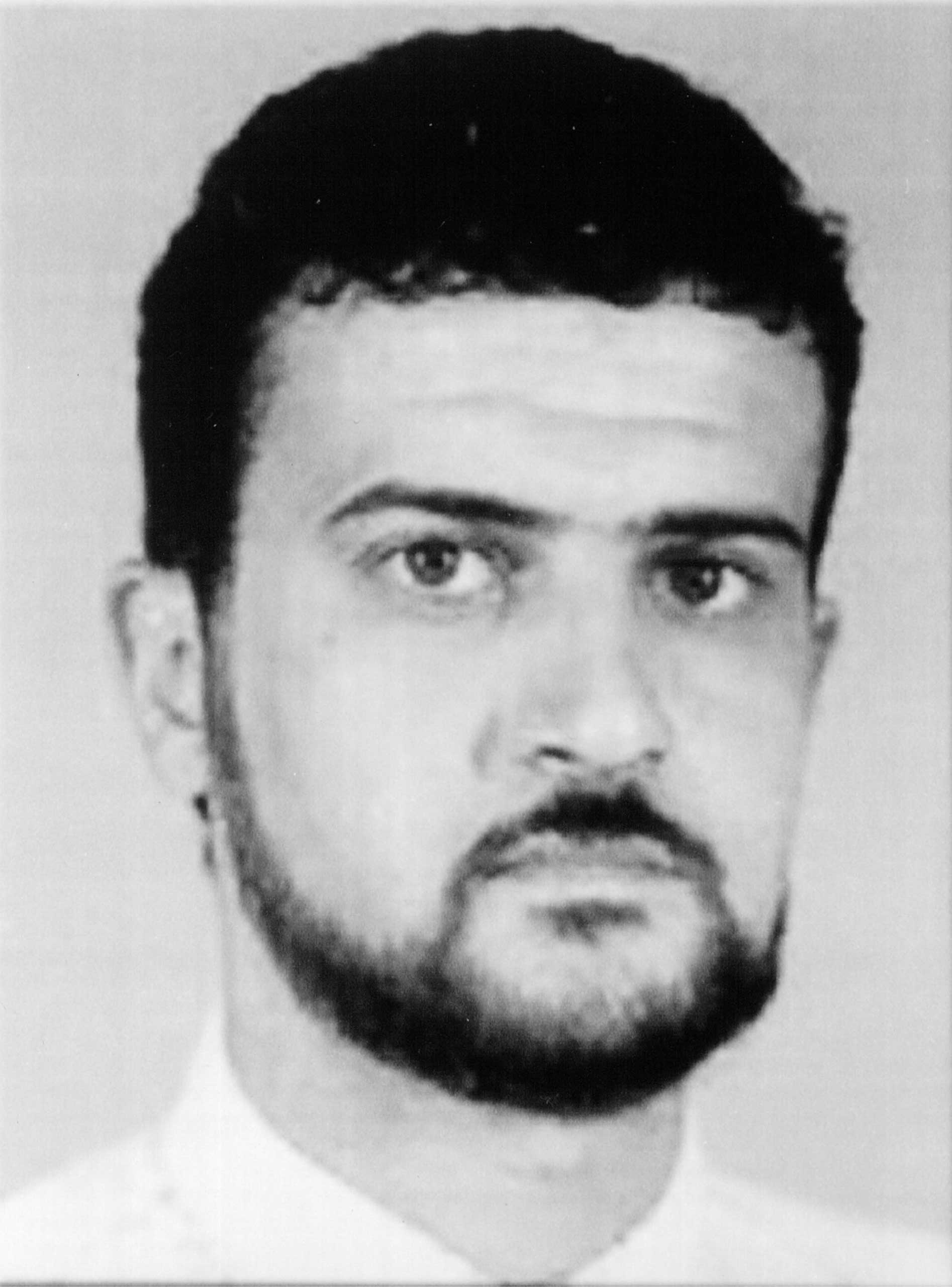 Anas Al-Liby is shown in this photo released by the FBI on Oct. 10, 2001 in Washington, D.C.