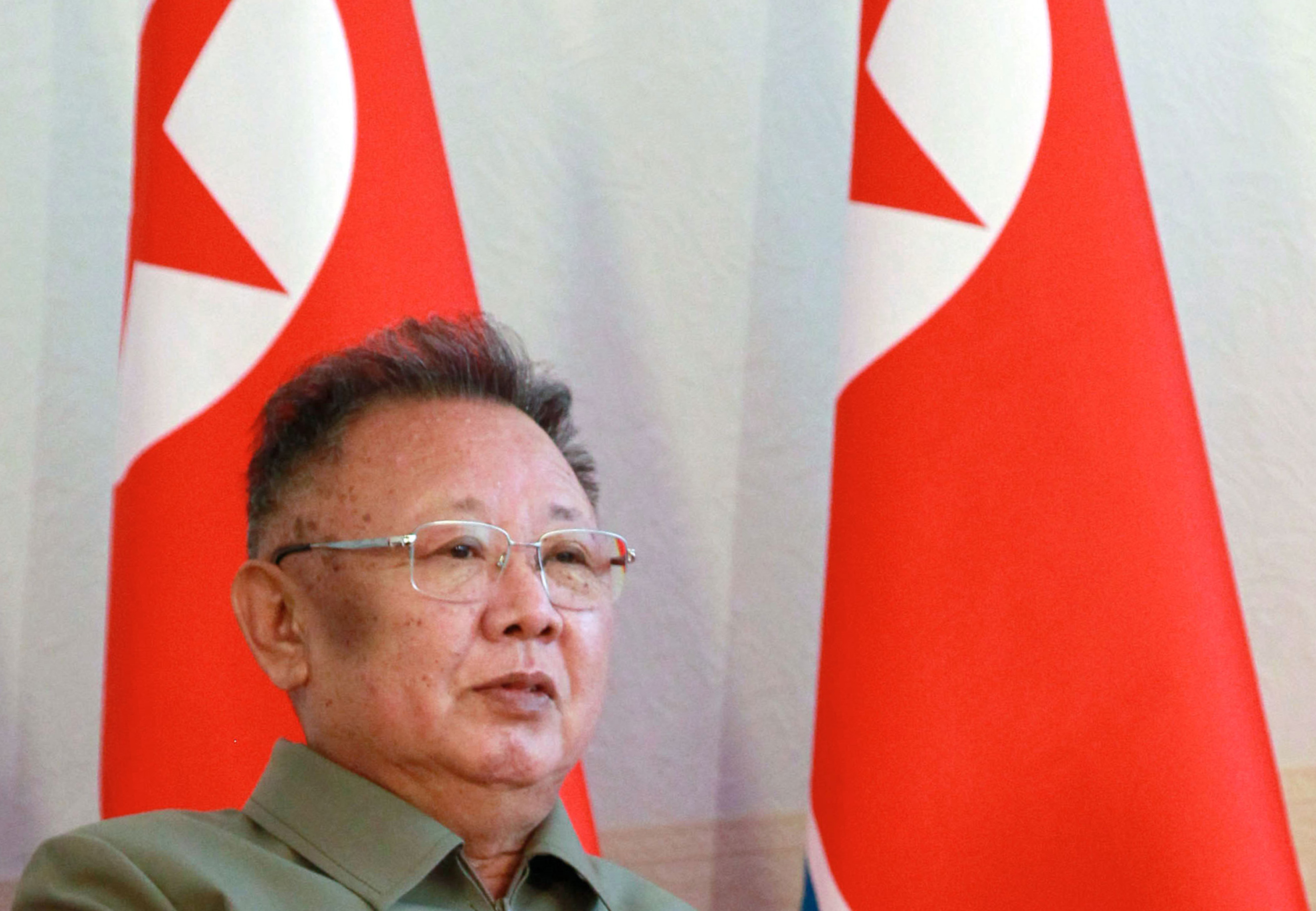 North Korea's leader Kim Jong-Il  speaks with Russian President Dmitry Medvedev (not pictured) during their meeting at Sosnovy Bor Military Garrison, Zaigrayevsky District, Buryatia outside Ulan-Ude on August 24, 2011.