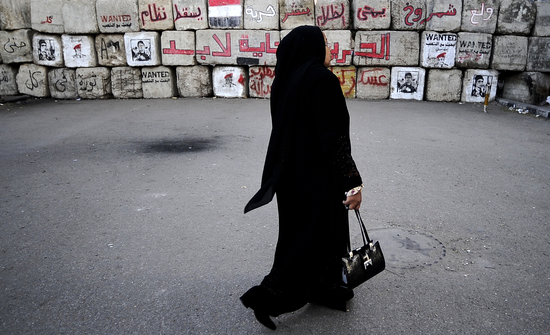 A woman near Cairo's Tahrir Square in 2011.