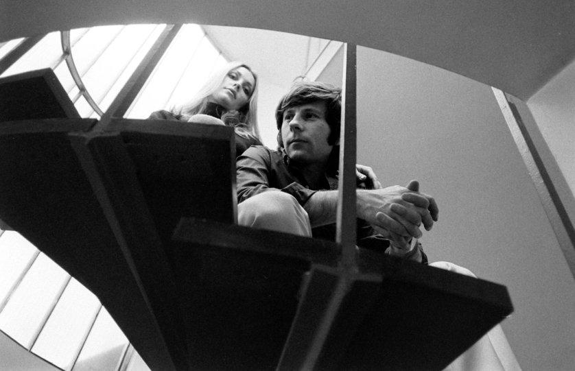 Sharon Tate, Roman Polanski, London, 1968.