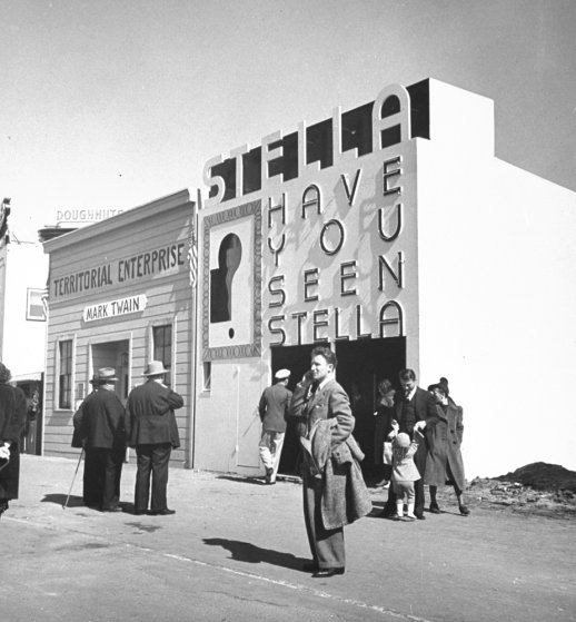 At the scene of the 1939-1940 Golden Gate International Exposition, San Francisco, 1939.