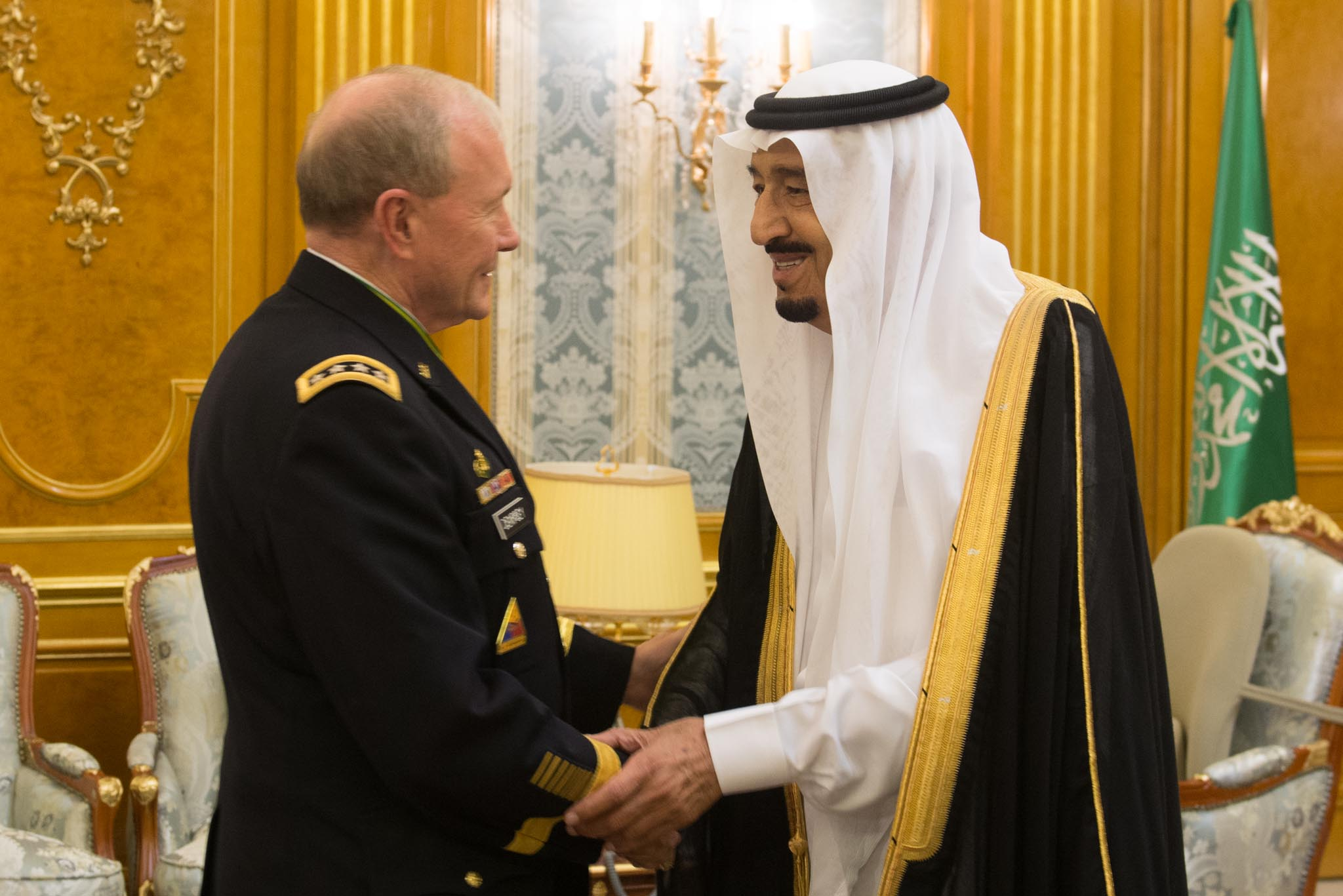 Then-Crown Prince—and now king—Salman bin Abdulaziz Al Saud meets Dempsey in Jeddah, Saudi Arabia, last June.