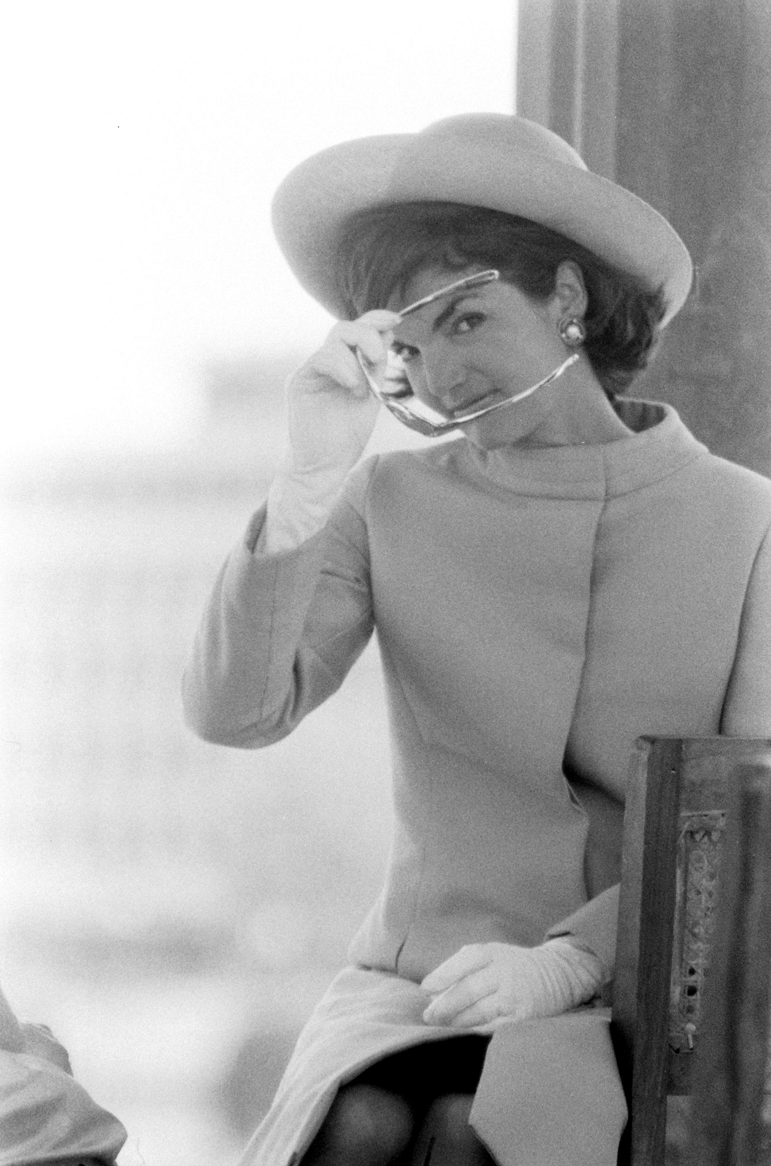 Jackie Kennedy on the first day of a trip to India, 1962.