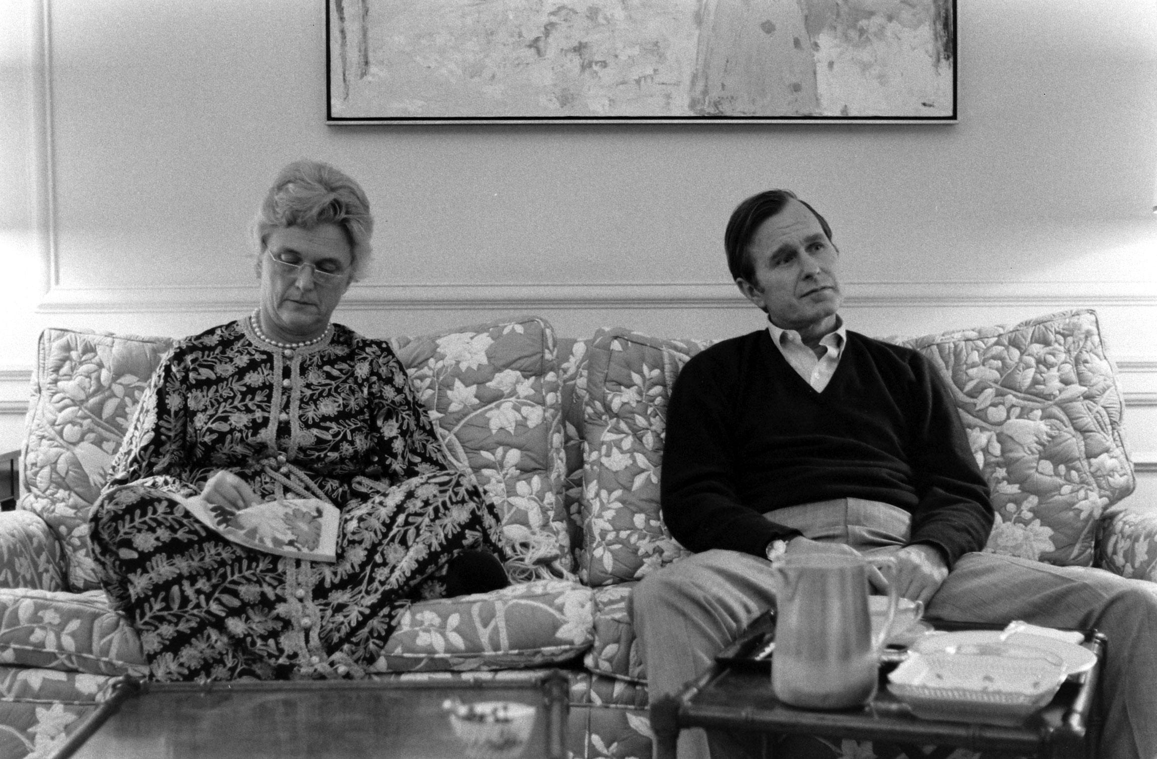Ambassador George H.W. Bush and wife Barbara, 1971.