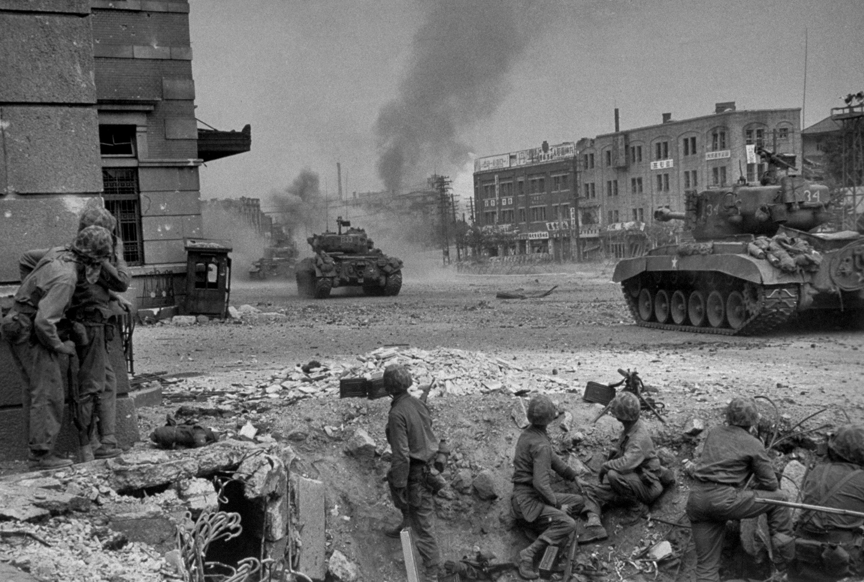 The fight for Seoul, Korea, 1950.