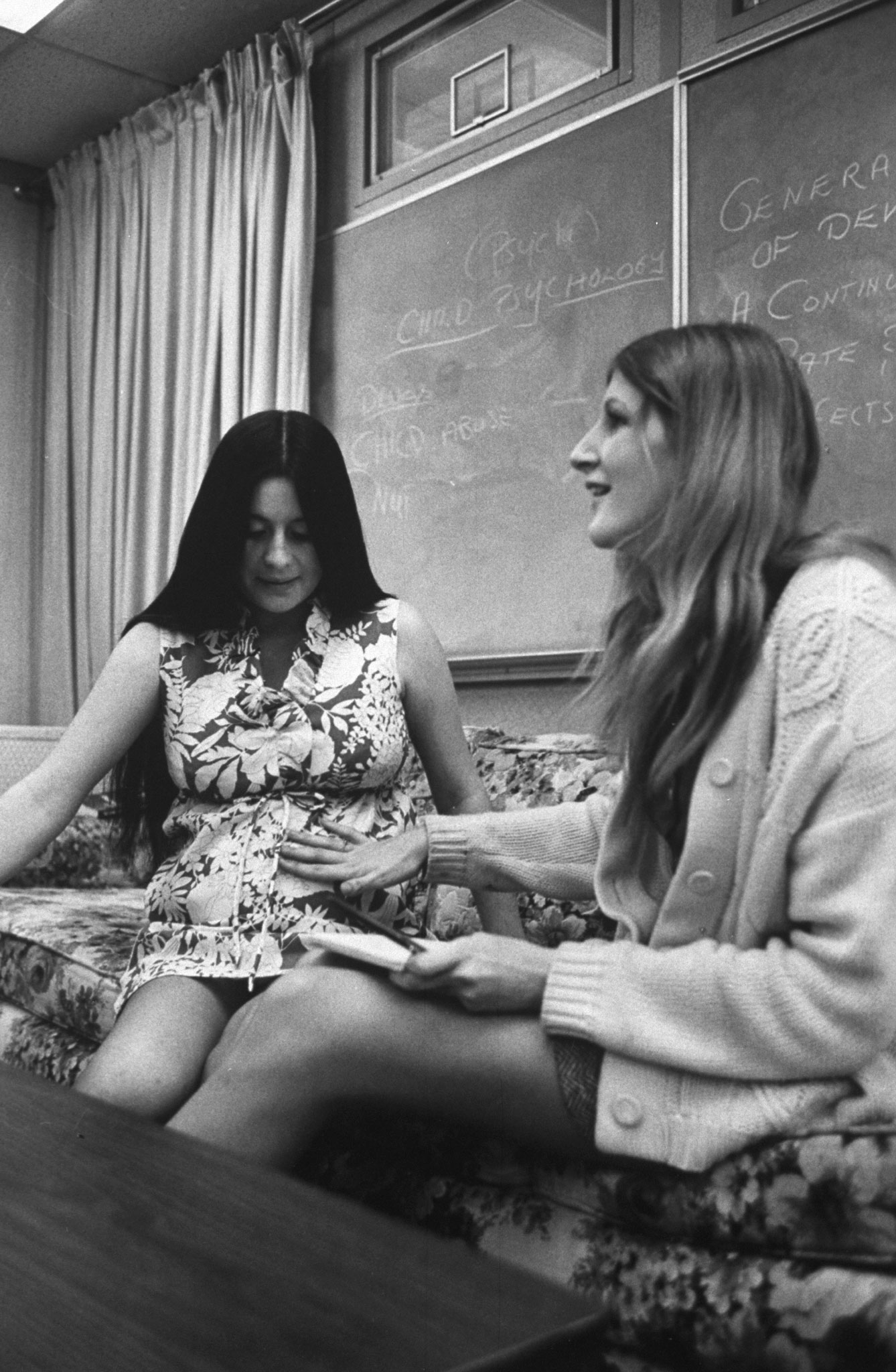 Pregnant high schoolers, Azusa, Calif., 1971.