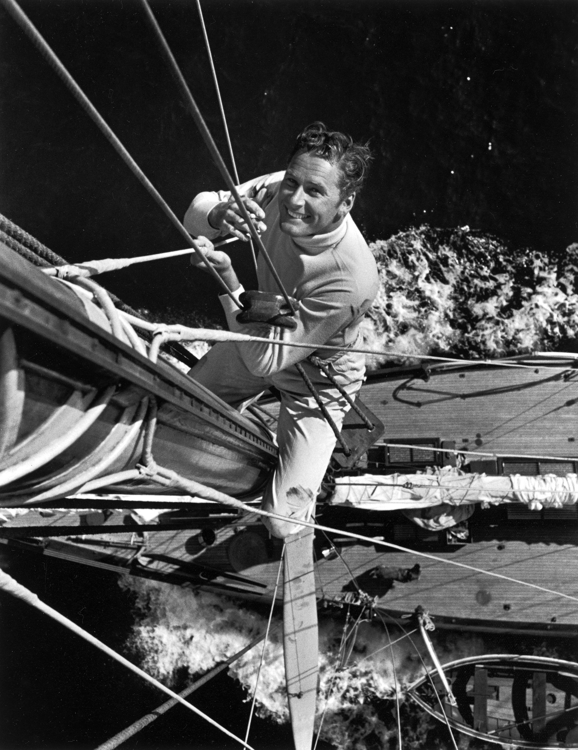 Erroll Flynn, who was never nominated. Pictured aboard his yacht Sirocco, 1941.