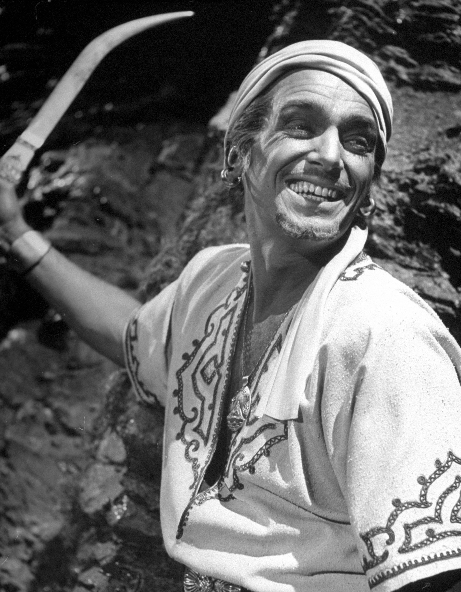 Douglas Fairbanks Jr., who was never nominated. Pictured in <i>Sinbad</i>, 1946.