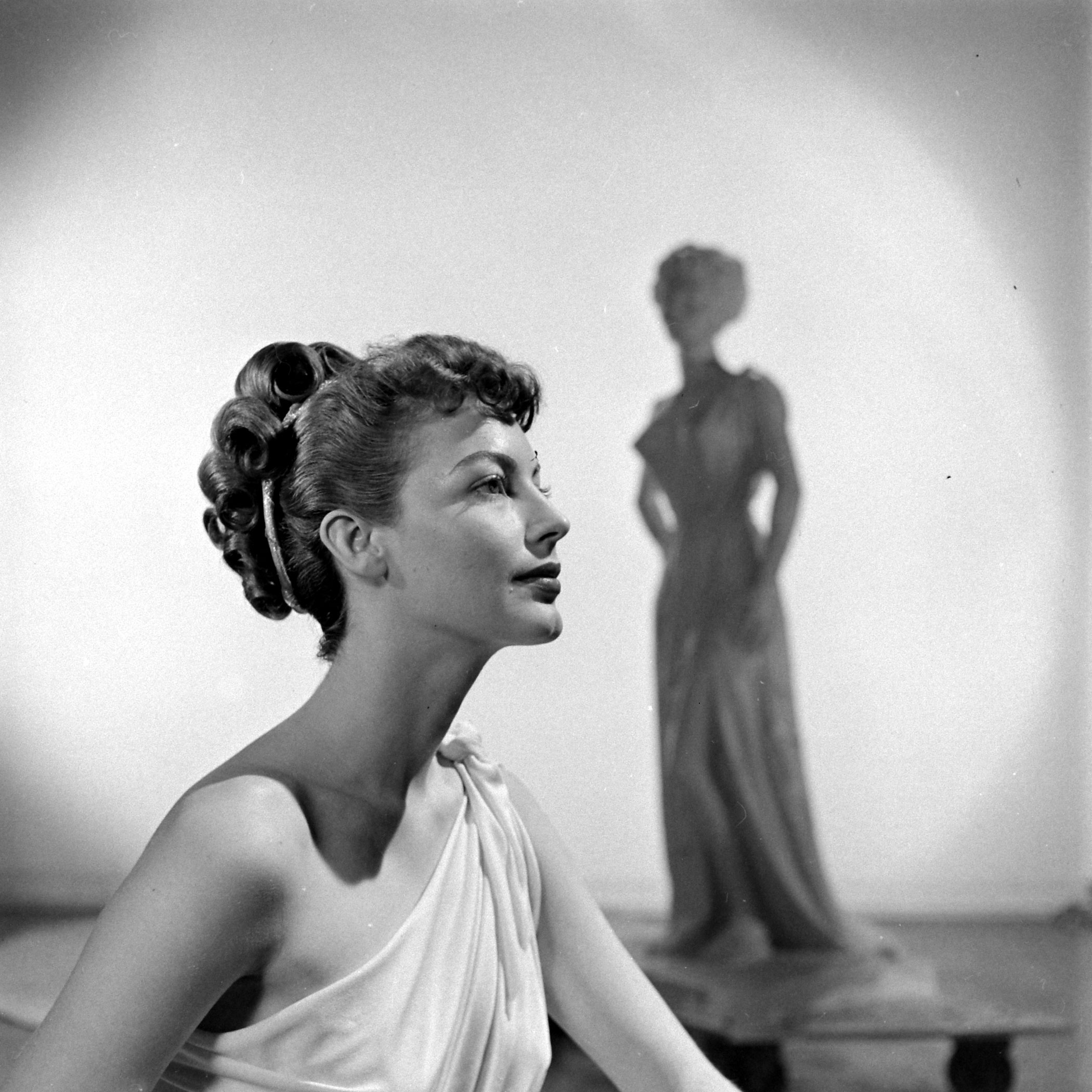 Ava Gardner, who was nominated once. Pictured in <i>One Touch of Venus</i>, 1948.