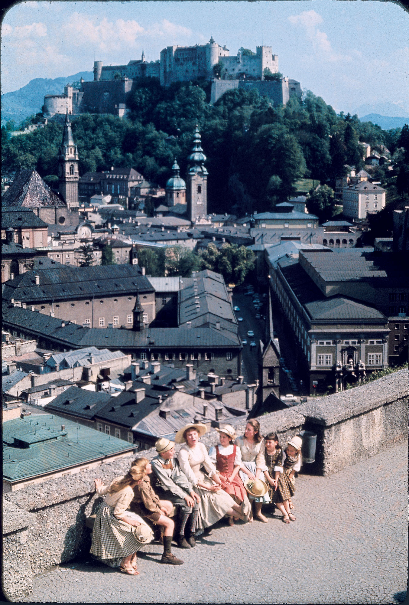 Distant view of cast in <i>The Sound of Music.</i>
