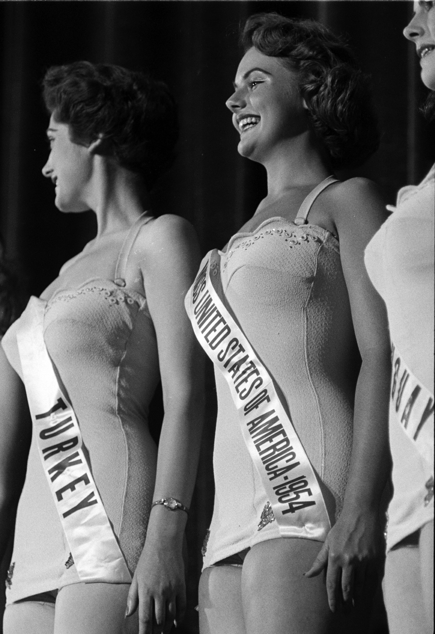 Miss USA flashes a smile, 1953.