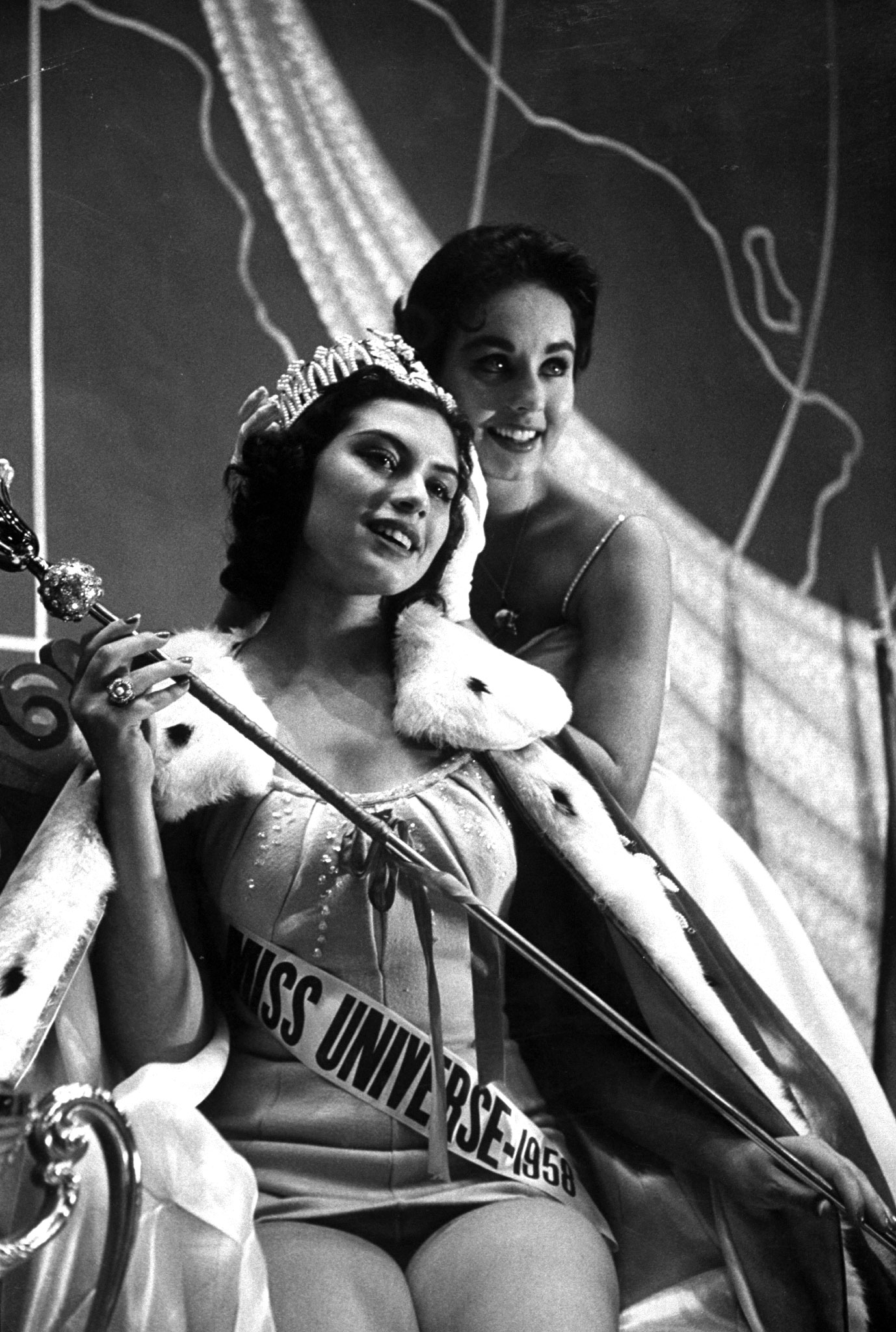 Miss Peru, Gladys Zender, winner of the 1957 Miss Universe Contest.