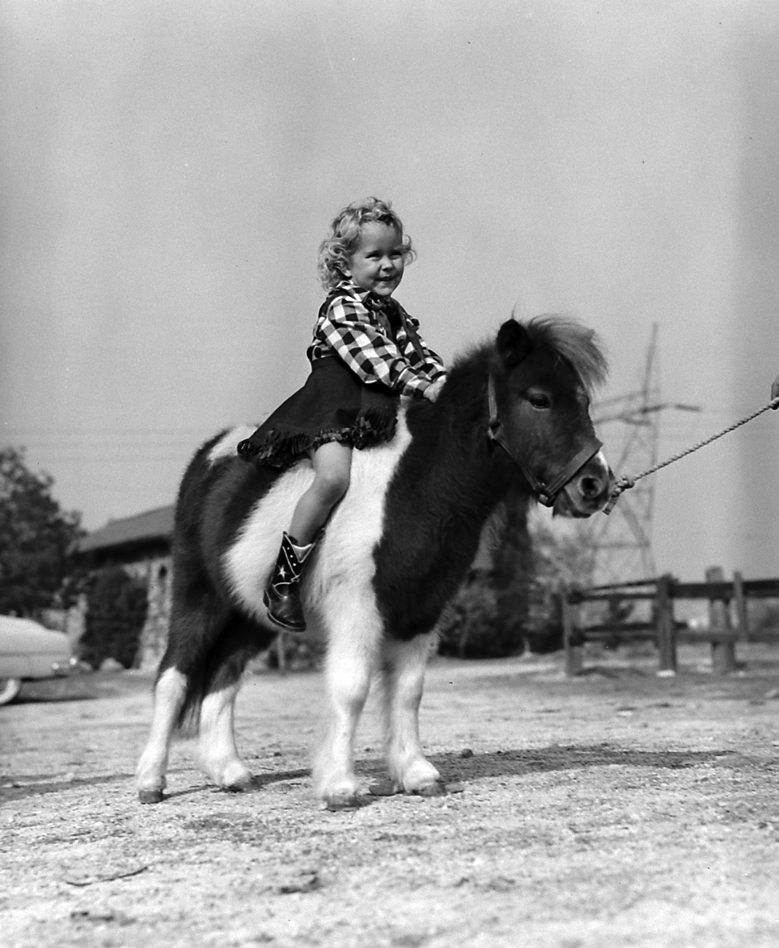 Cynthia riding Cedric.