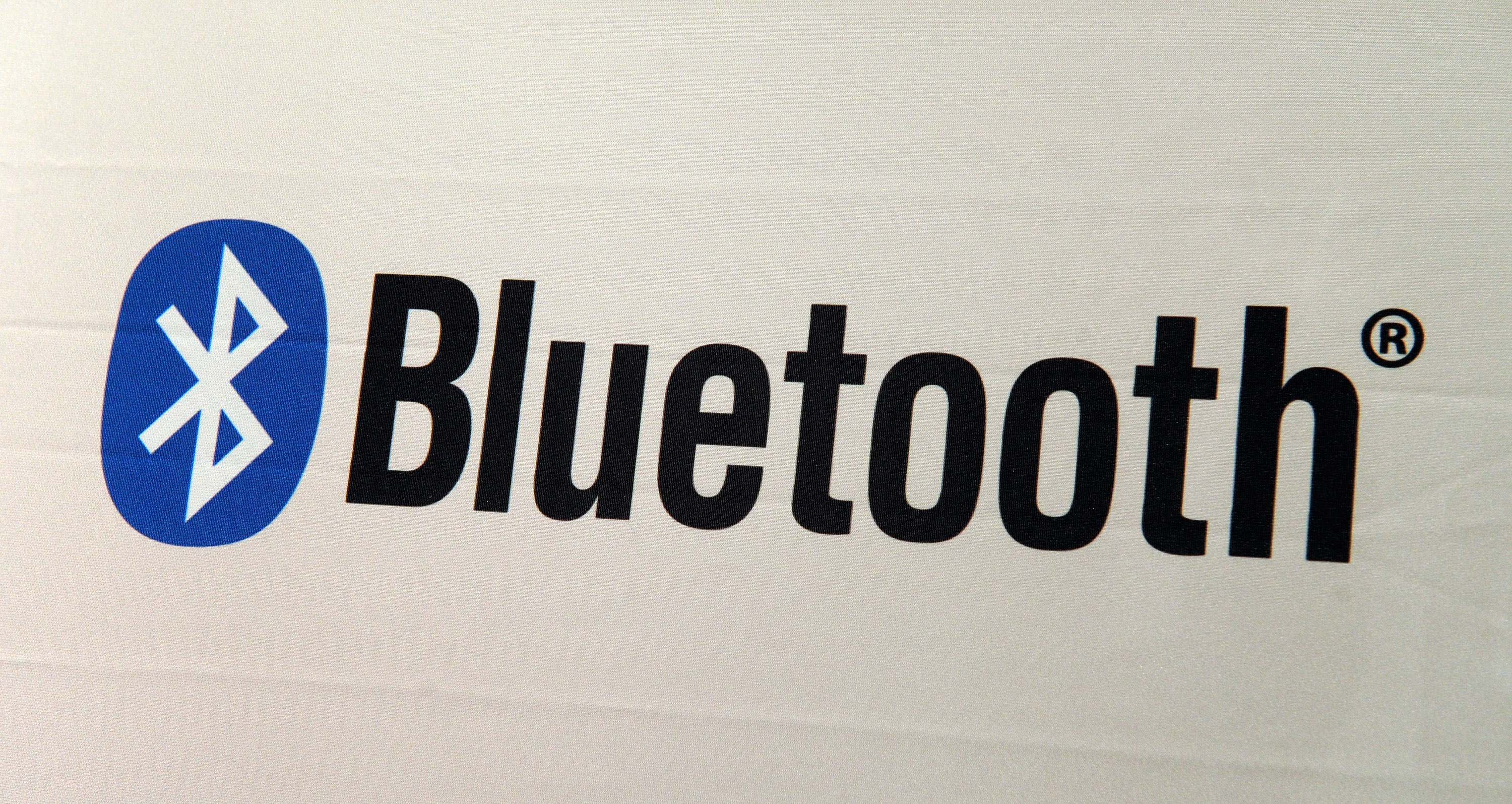 A Bluetooth logo is seen at the 2013 International CES at the Las Vegas Convention Center on January 8, 2013 in Las Vegas, Nevada.