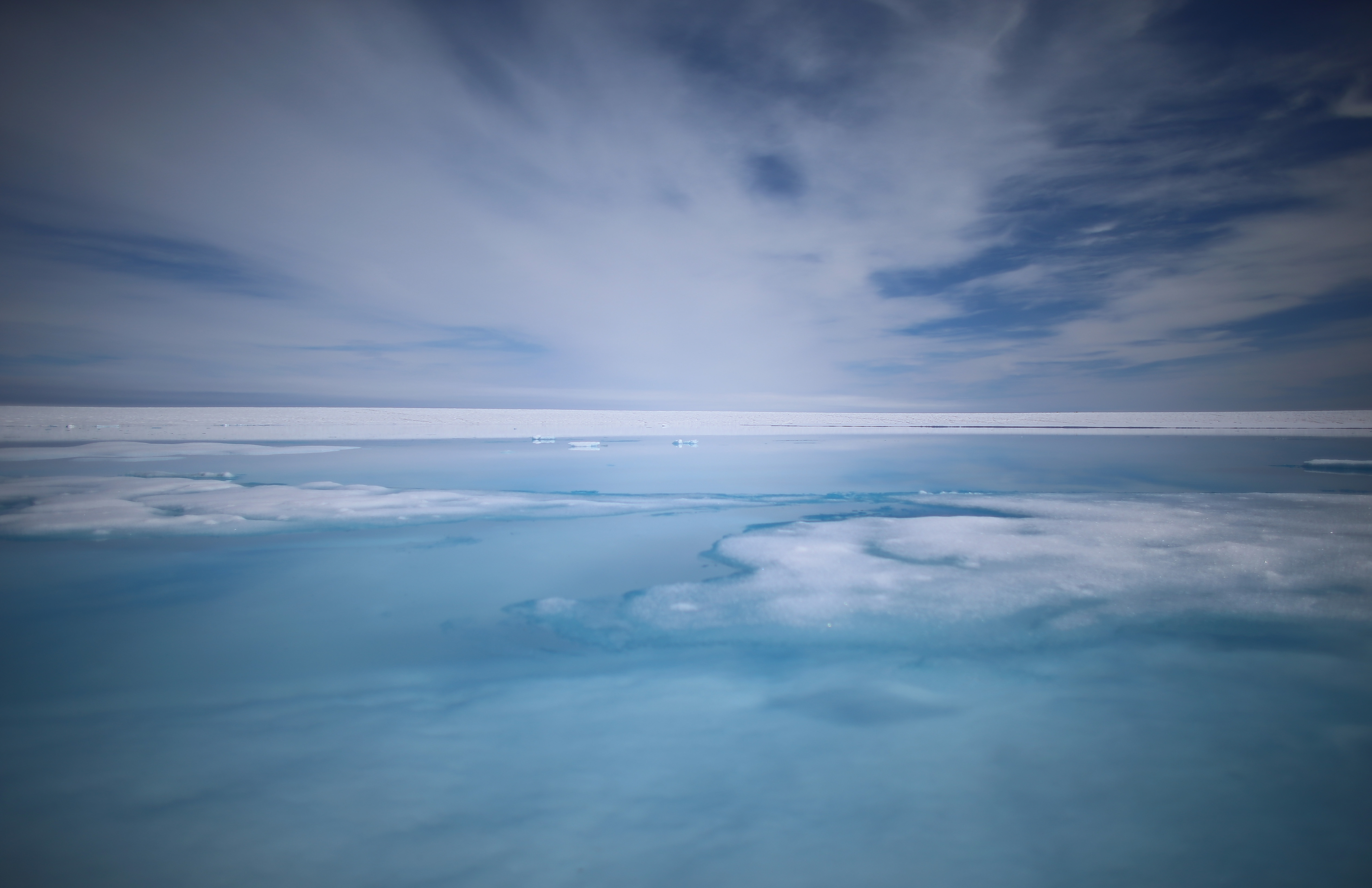 Part of the glacial ice sheet that covers about 80 percent of the country is seen on July 17, 2013 on the Glacial Ice Sheet, Greenland.
