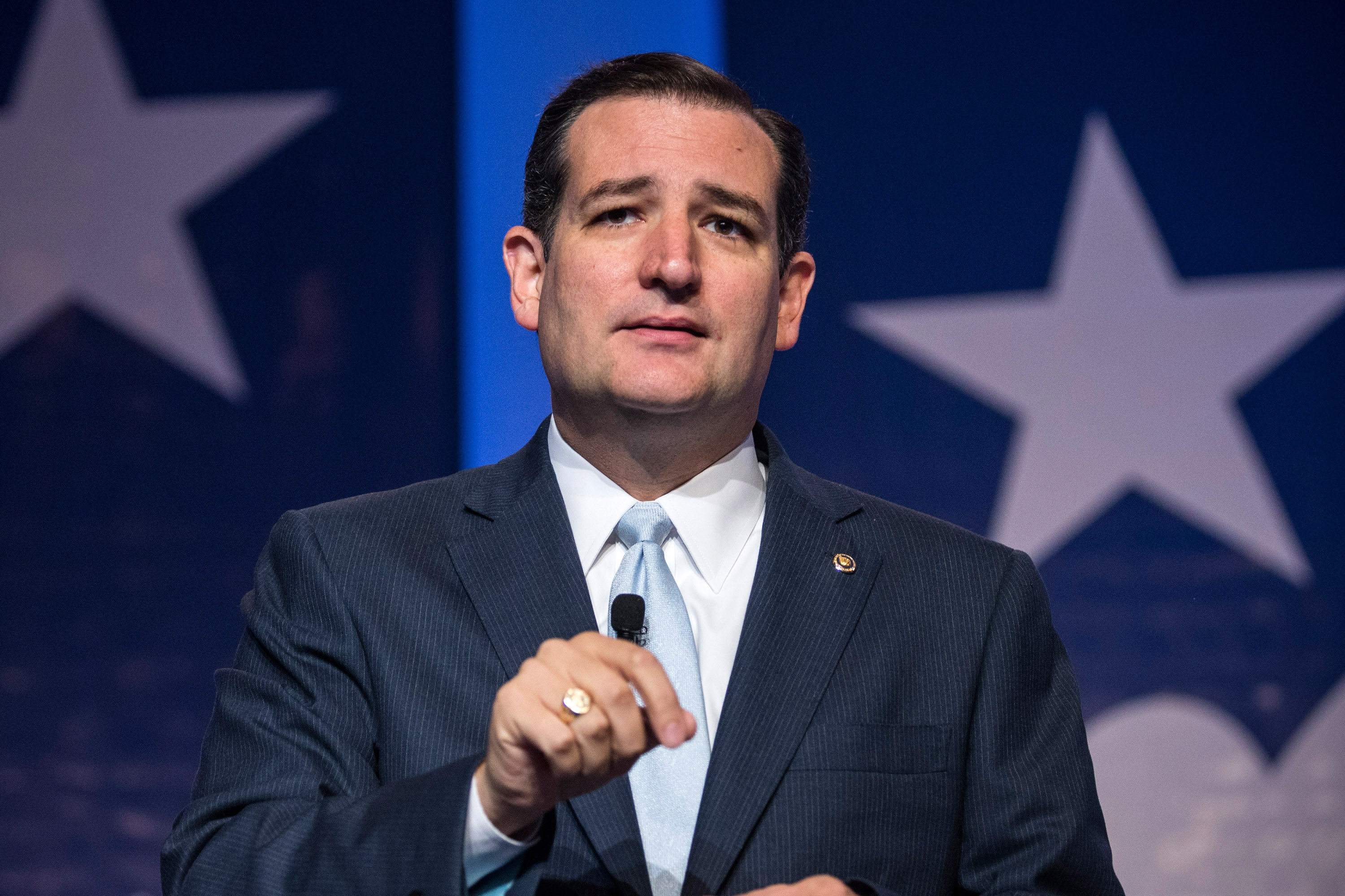 Senator Ted Cruz (R-TX), speaks at the 2013 Values Voter Summit, held by the Family Research Council, on October 11, 2013 in Washington, DC.