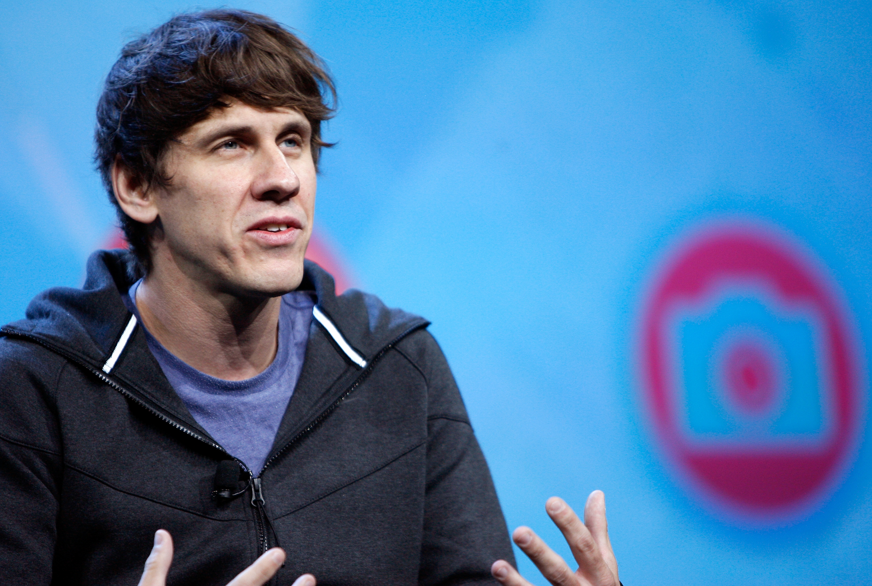 Foursquare co-founder Dennis Crowley speaks during the NikeFuel Forum at Spring Studios on October 15, 2013 in New York City.