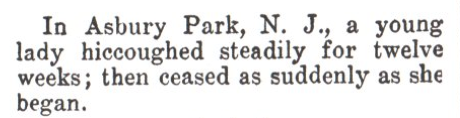 From the Mar. 3, 1923, issue of TIME. She must have had it hic-up to here.