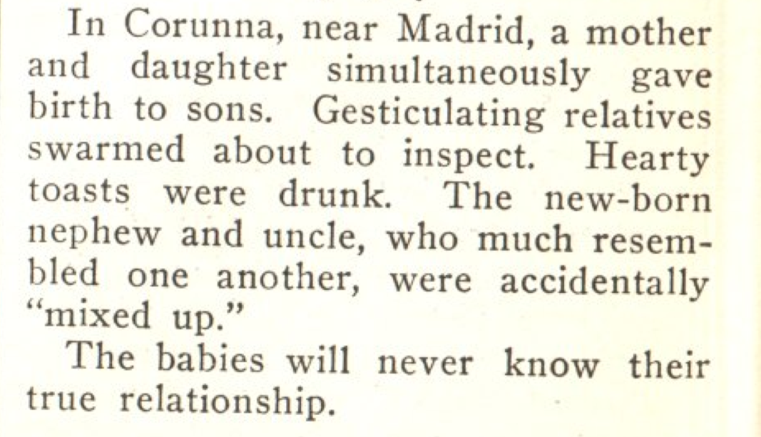From the Oct. 12, 1923, issue of TIME. Proof that happy families aren't actually all alike.