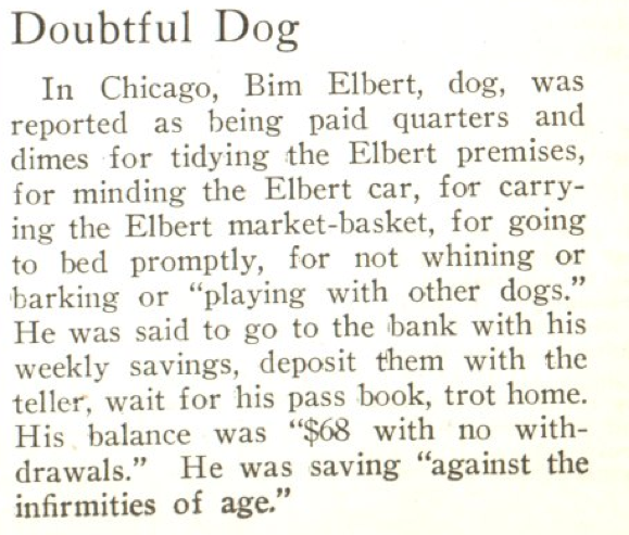 From the Aug. 25, 1924, issue of TIME. Sit! Stay! Rollover your 401(k)!