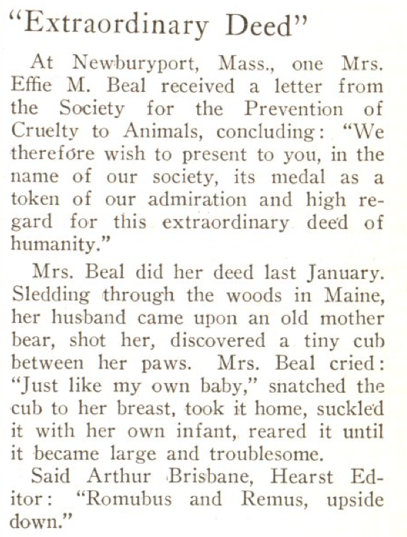 From the Aug. 26, 1924, issue of TIME. More like attachment bear-enting, am I right?