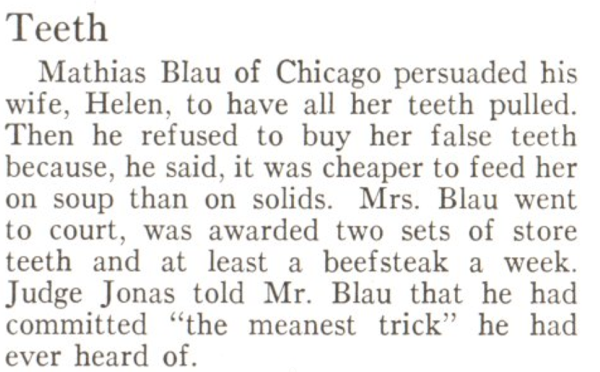 From the Apr. 9, 1928,  issue of TIME. When they got married, she bit off more than she could chew.