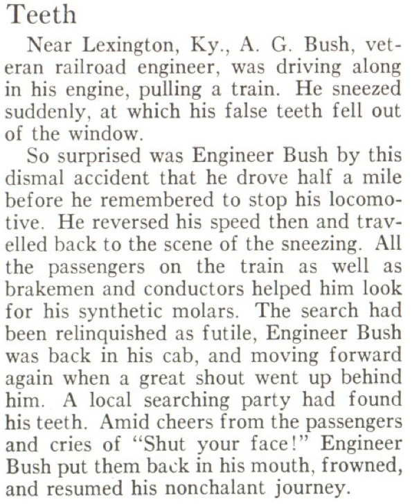 From the June 4, 1928, issue of TIME. And that is why you should cover your nose and mouth when you sneeze.