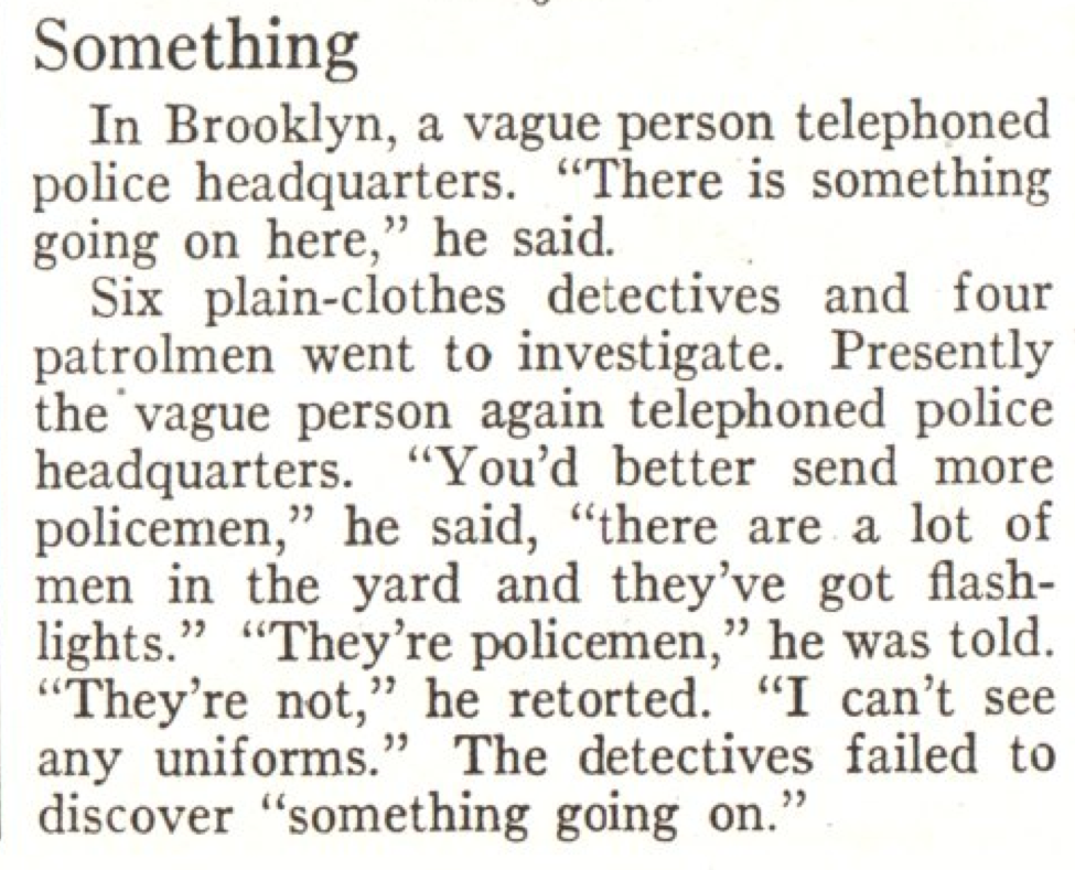 From the Feb. 3, 1930, issue of TIME. Um, O.K.