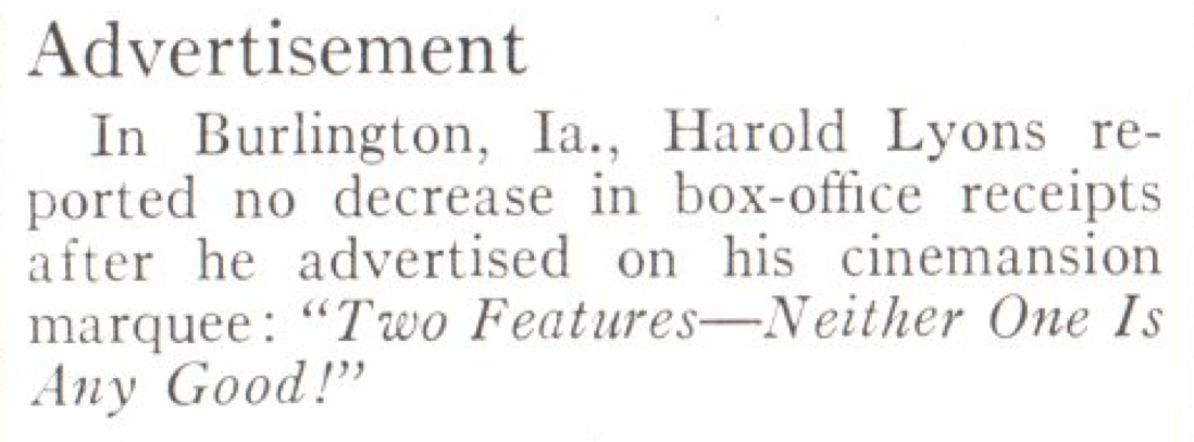 From the Apr. 12, 1937, issue of TIME. Not bad!