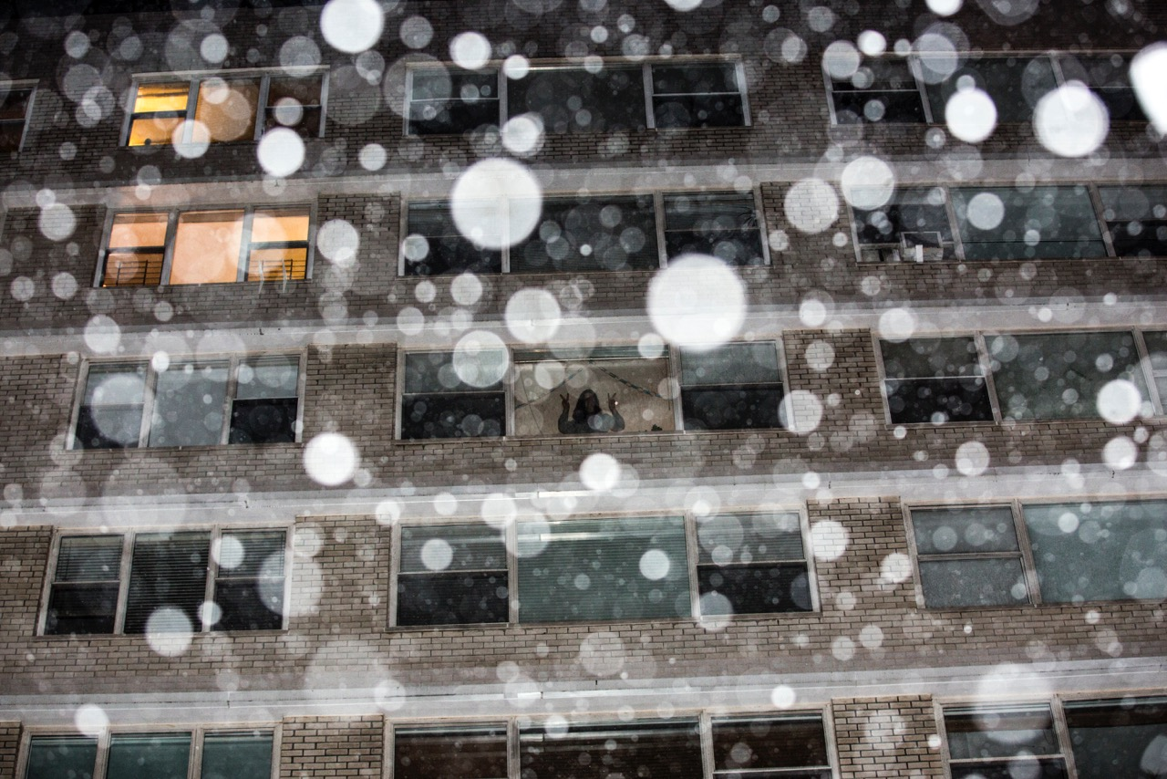 Snow falls in New York City on Jan. 26, 2015.