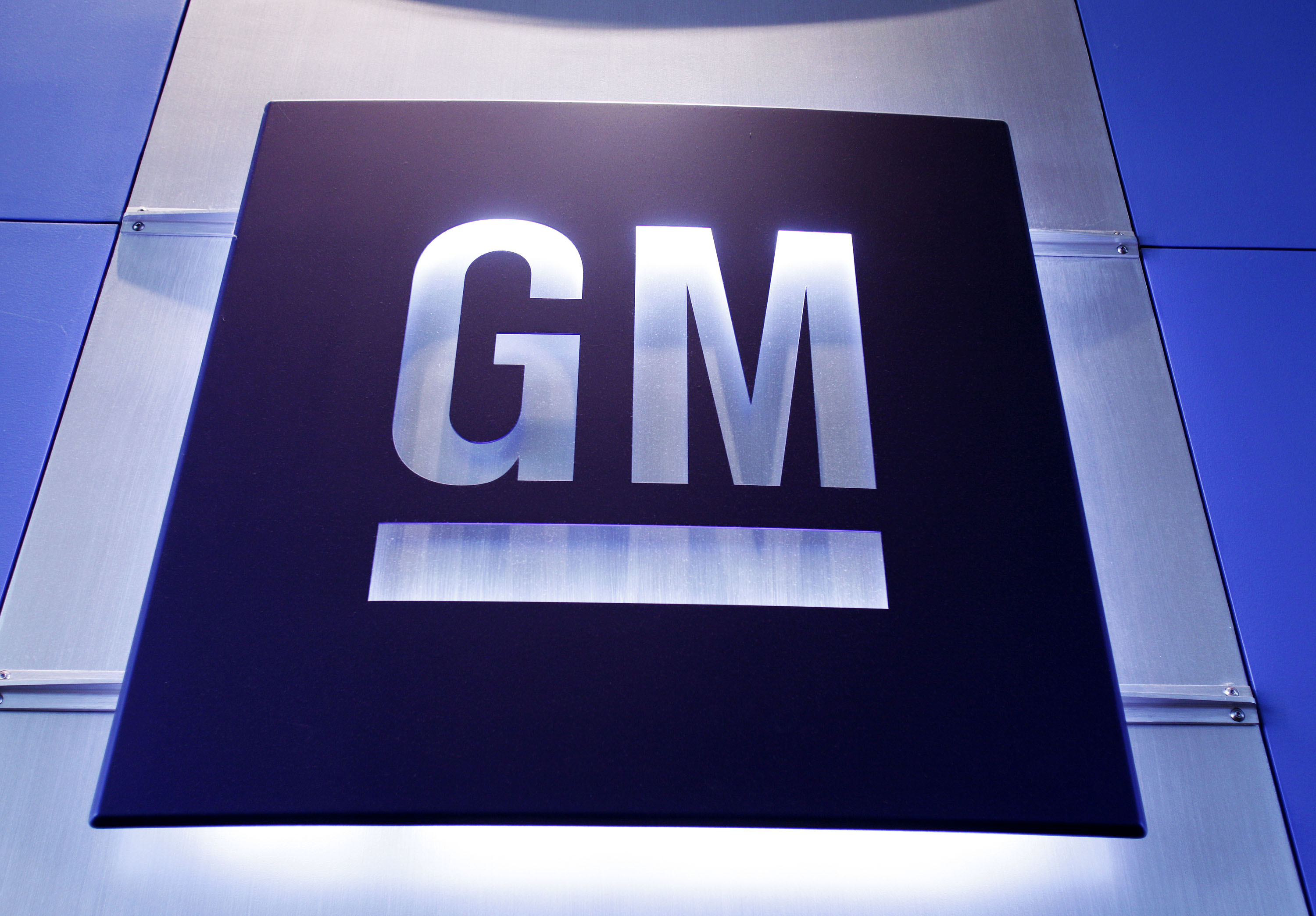 General Motors logo is shown at the General Motors Technical Center.